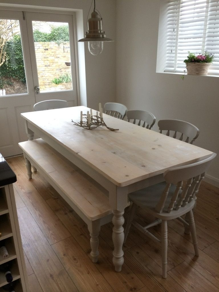 Bespoke Farmhouse Tables Made From Reclaimed Pine In Warwickshire With Regard To Latest Farm Dining Tables (Image 2 of 20)
