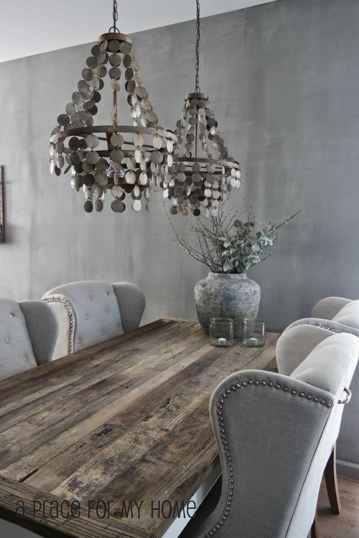 Best 1076 Interiors & Home Decor Ideas On Pinterest | My House Pertaining To Best And Newest Bale Rustic Grey 6 Piece Dining Sets With Pearson Grey Side Chairs (View 12 of 20)