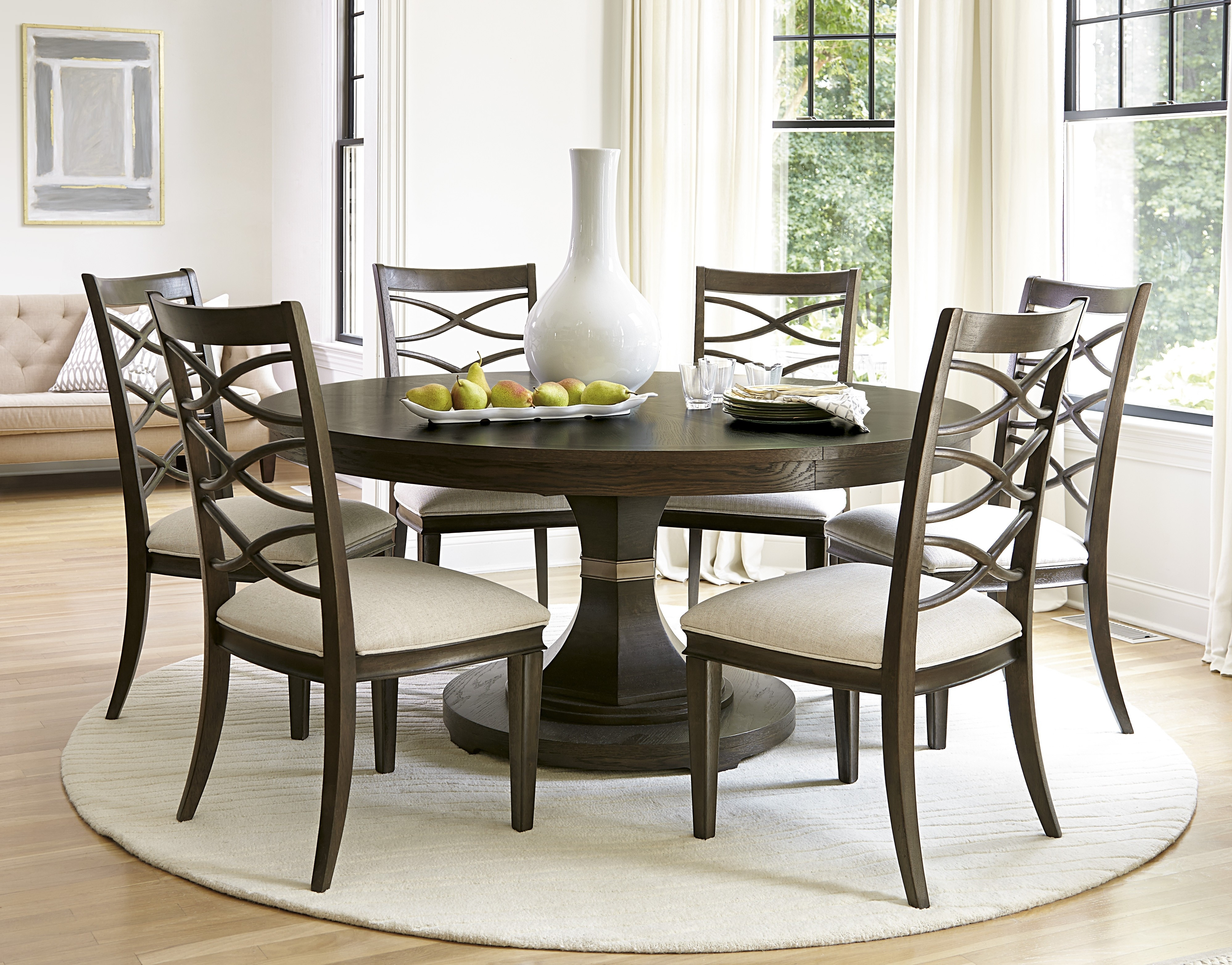 Best Round Dining Room Table With Best Furniture Mentor Oh Furniture Regarding 2018 Caden 5 Piece Round Dining Sets (Image 3 of 20)