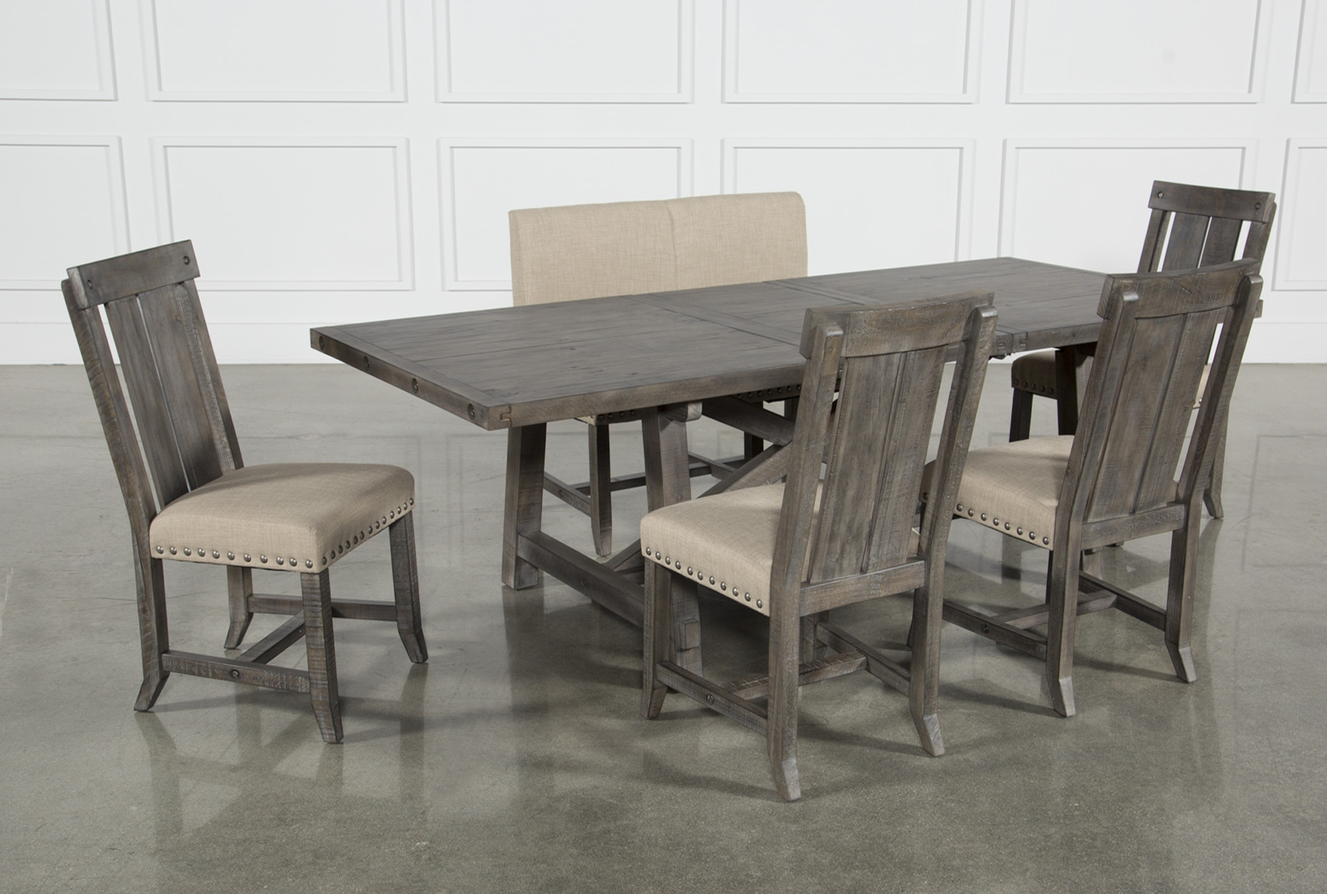 Besteneer Rectangular Dining Room Table Dark Gray – Signat In Best And Newest Jaxon Grey Round Extension Dining Tables (Image 3 of 20)