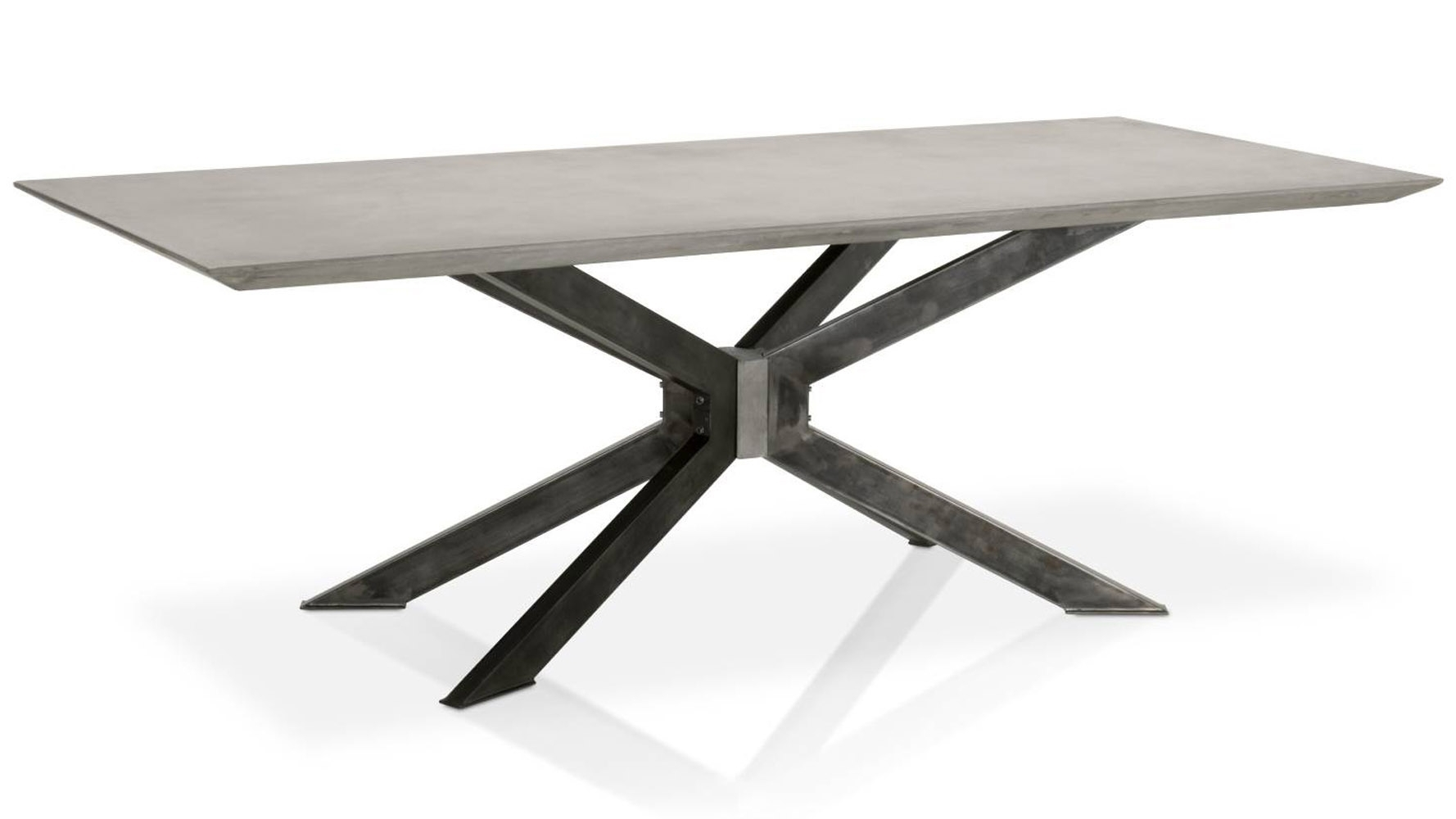 Beton 87 Inch Dining Table | Zuri Furniture Inside Most Up To Date 87 Inch Dining Tables (View 20 of 20)