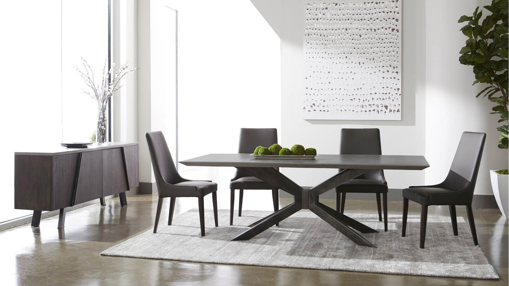 Beton 87 Inch Dining Table | Zuri Furniture Throughout Most Up To Date 87 Inch Dining Tables (View 15 of 20)