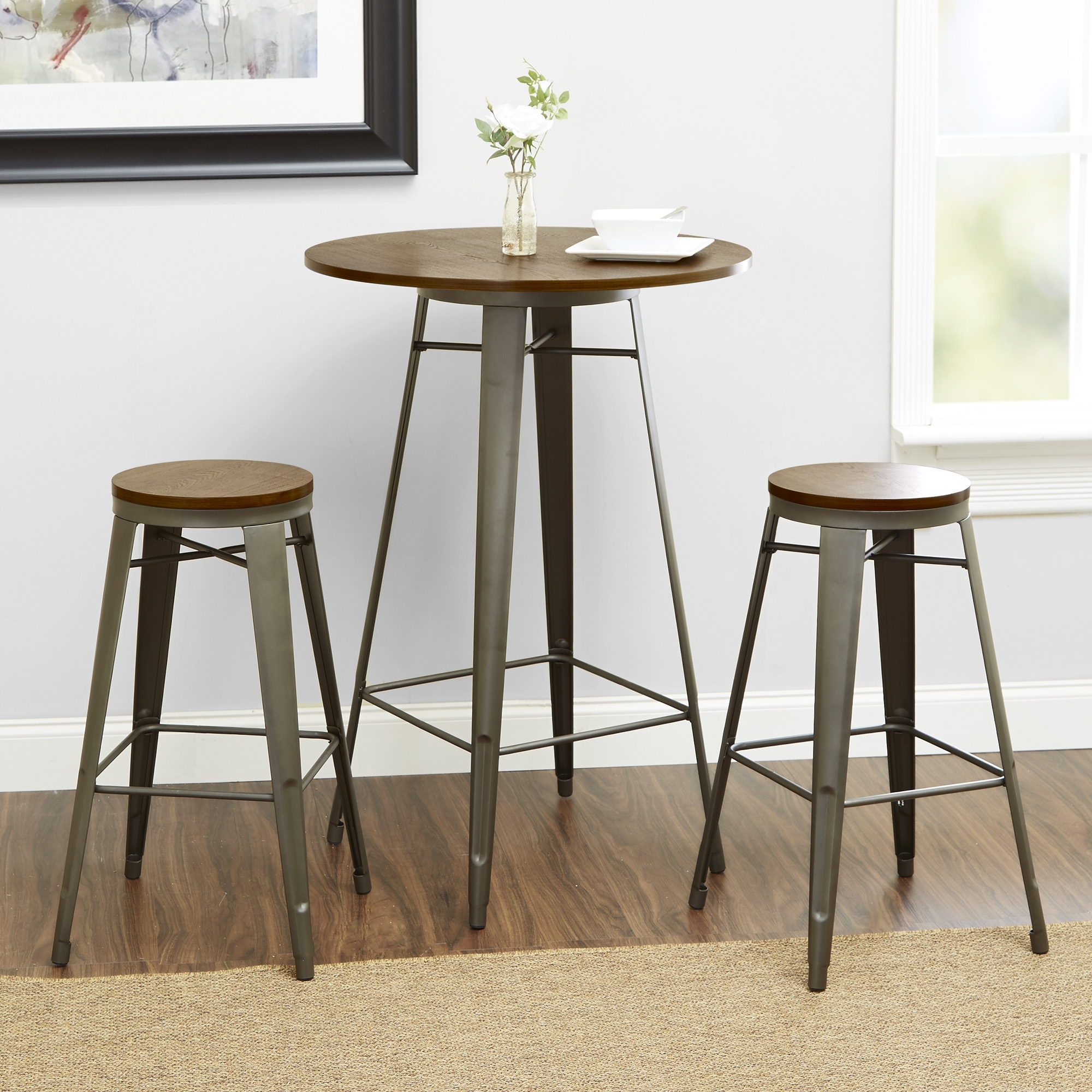 Better Homes And Gardens Harper 3 Piece Pub Set, Multiple Colors In 2018 Harper 5 Piece Counter Sets (Image 3 of 20)
