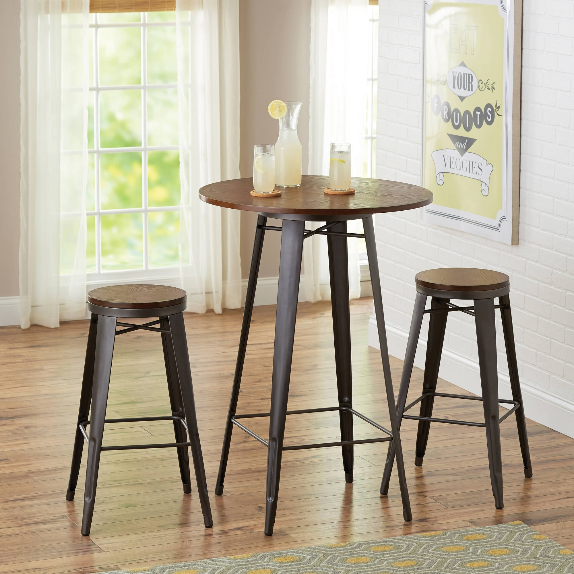 Better Homes And Gardens Harper 3 Piece Pub Set, Multiple Colors In Current Harper 5 Piece Counter Sets (Image 4 of 20)