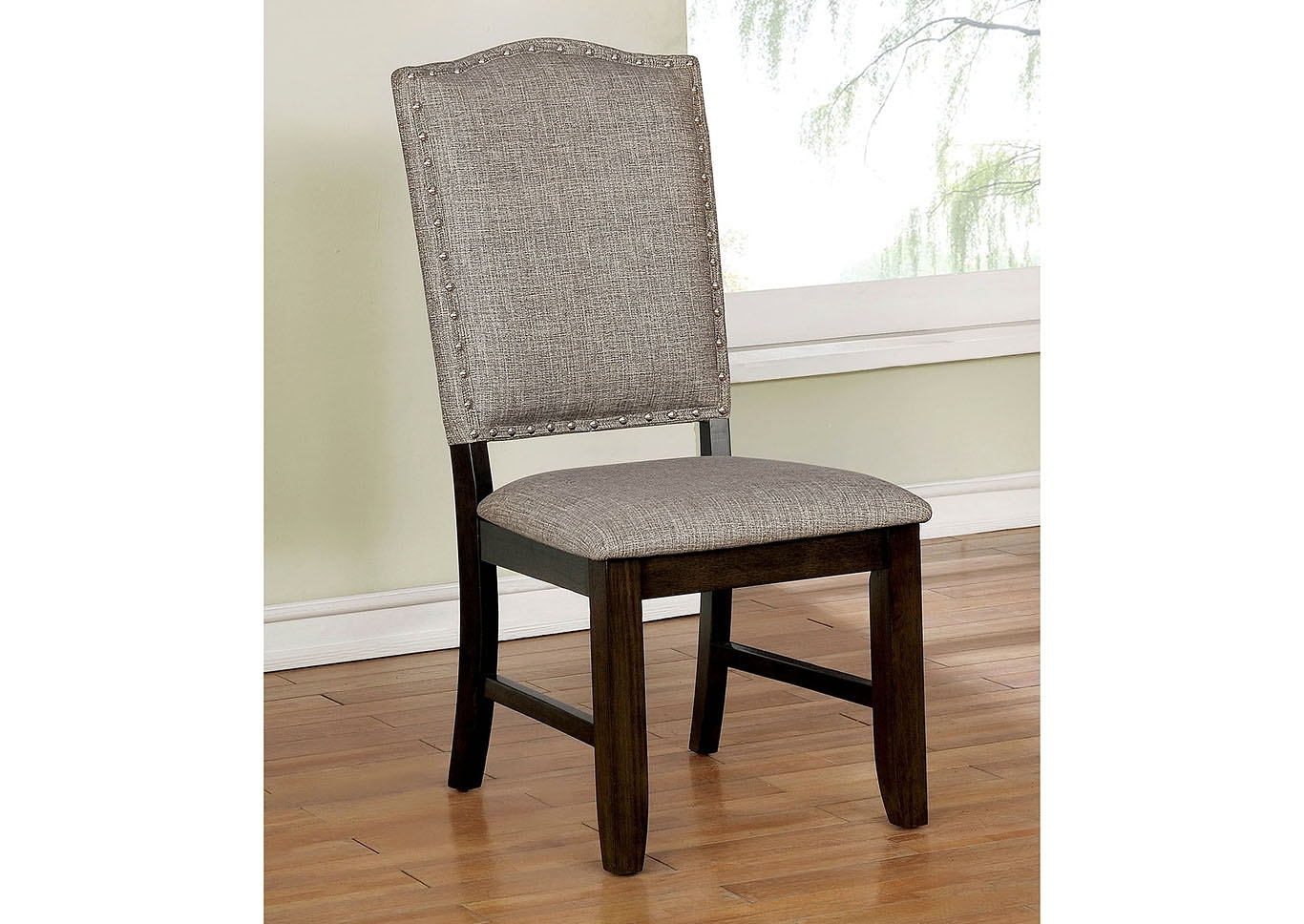 Beverly Hills Furniture Queens Teagan Side Chair (2/ctn) Throughout Most Popular Teagan Extension Dining Tables (View 17 of 20)