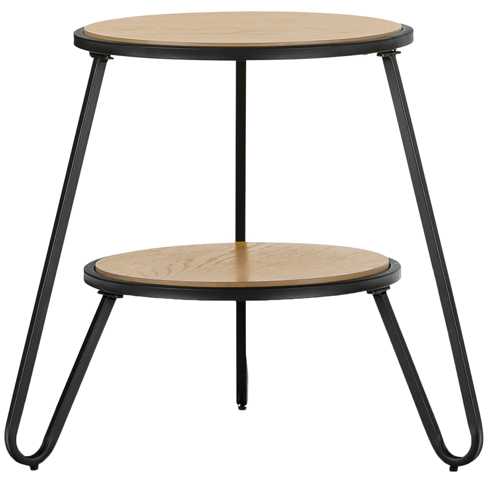 Black Macy Round Side Table | Temple & Webster With Recent Macie Round Dining Tables (Image 3 of 20)