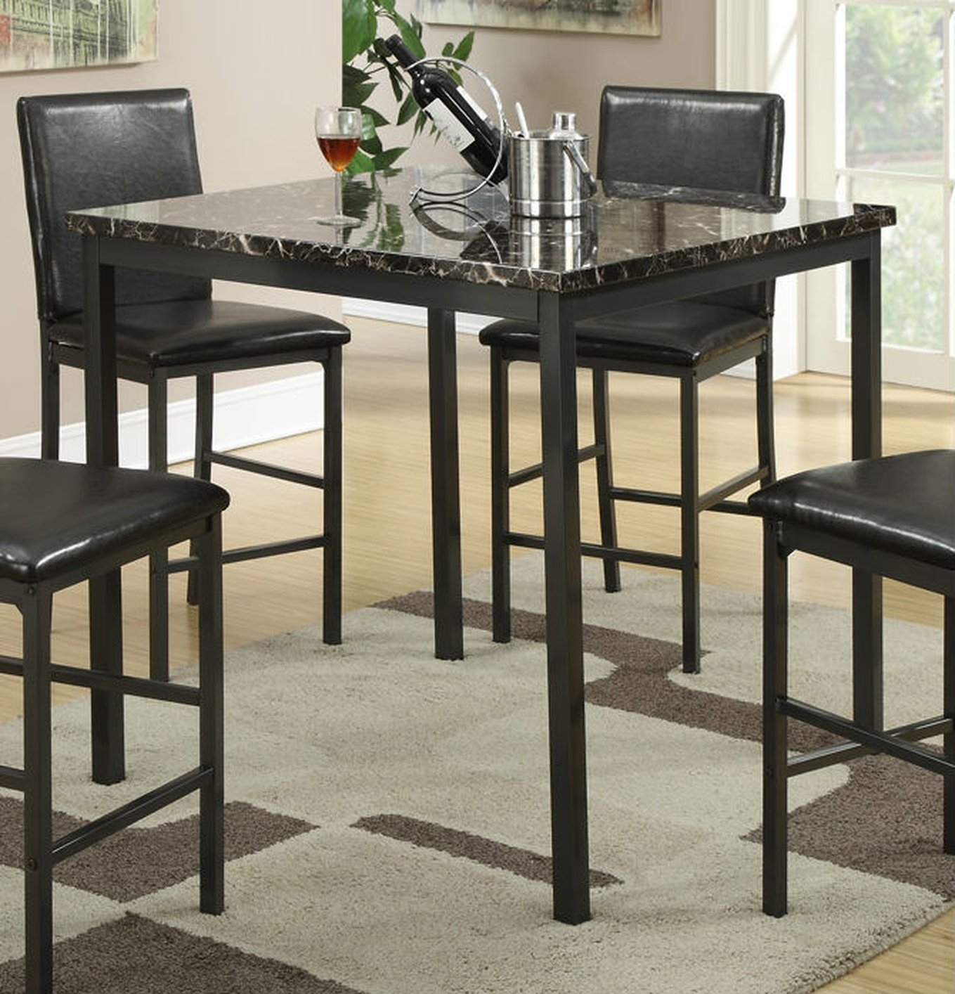 Black Metal Dining Table – Steal A Sofa Furniture Outlet Los Angeles Ca Throughout 2017 Palazzo Rectangle Dining Tables (View 15 of 20)