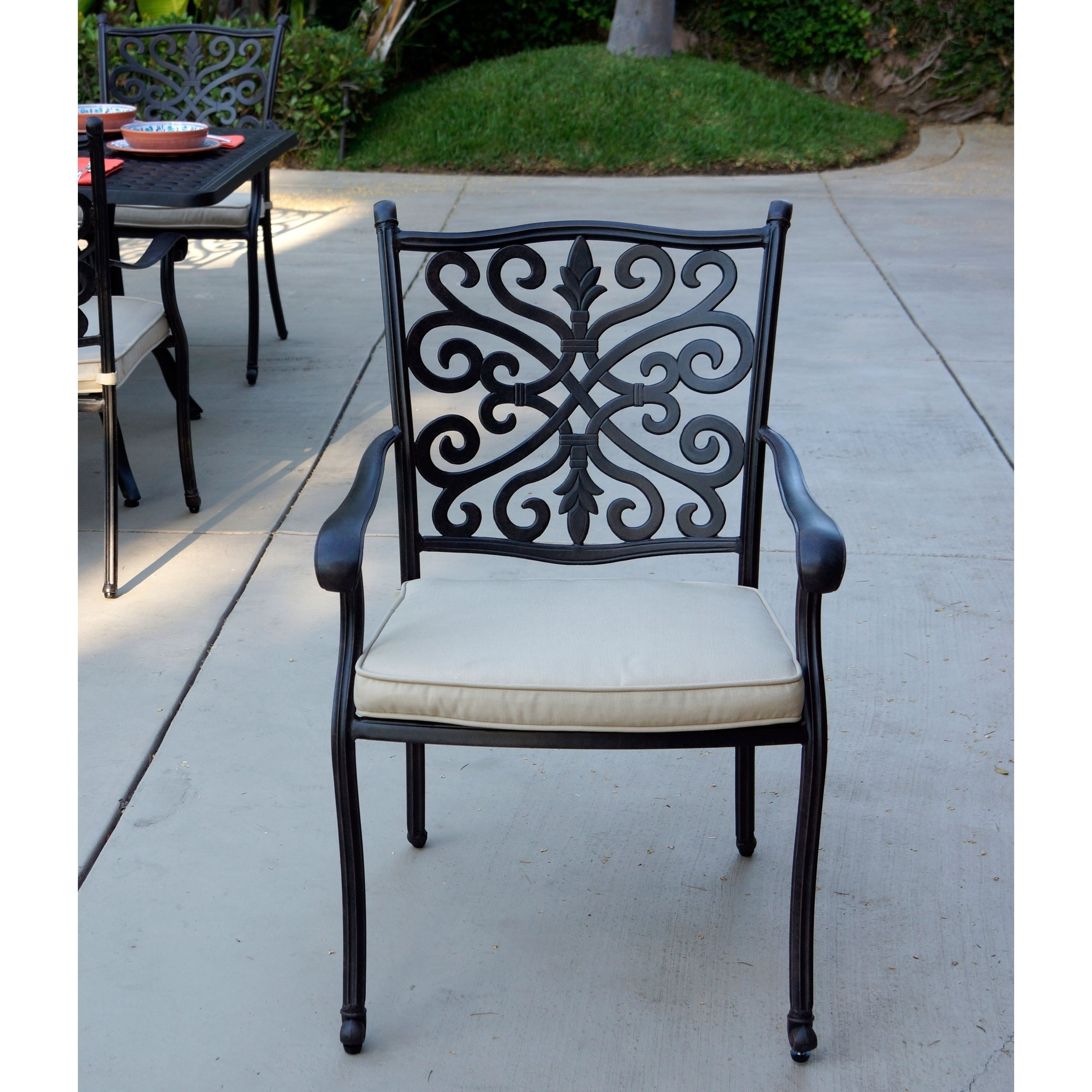 Black Outdoor Dining Sets For Less | Overstock For Latest Valencia 72 Inch 7 Piece Dining Sets (View 13 of 20)