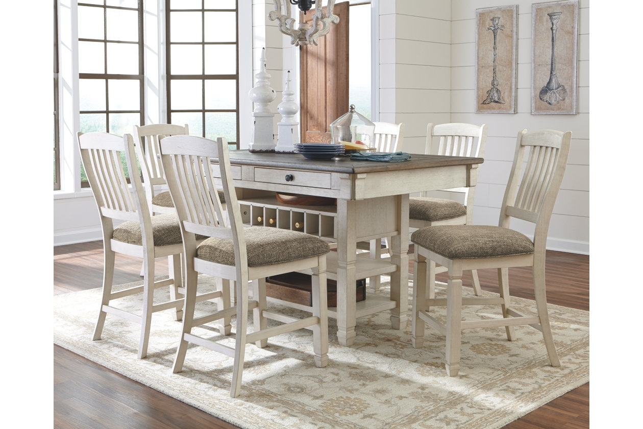 Bolanburg 5 Piece Counter Dining Room | Ashley Furniture Homestore Regarding Most Popular Craftsman 9 Piece Extension Dining Sets With Uph Side Chairs (View 3 of 20)