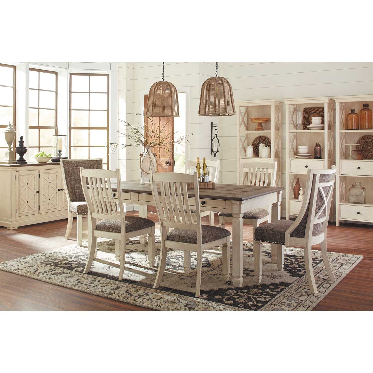 Bolanburg 7 Piece Dining Set D647 7Pc | Ashley Furniture | Afw In Latest Market 7 Piece Dining Sets With Host And Side Chairs (View 5 of 20)
