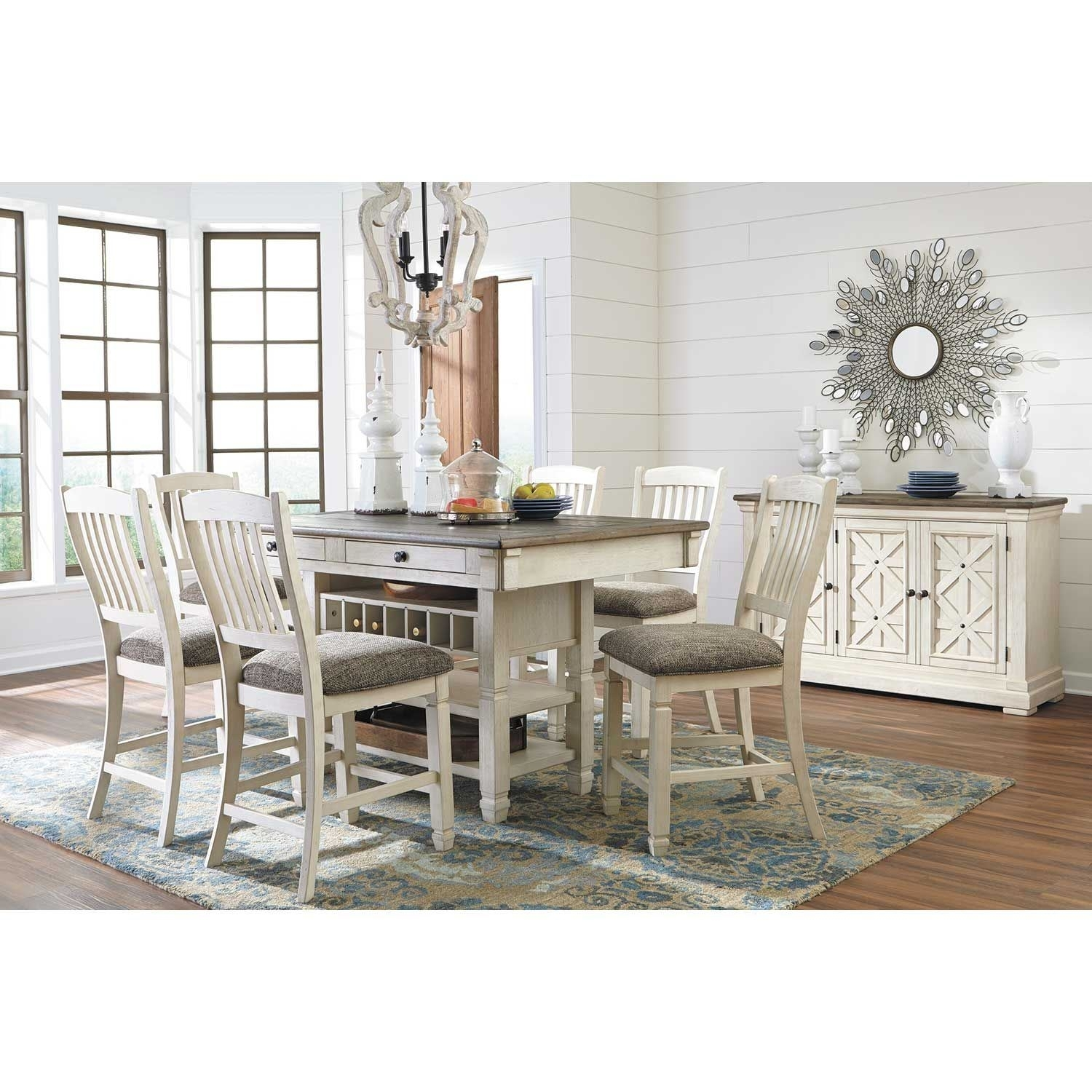 Bolanburg Counter Height Table D647 32 | Ashley Furniture | Afw Throughout Most Up To Date Market 6 Piece Dining Sets With Host And Side Chairs (View 10 of 20)