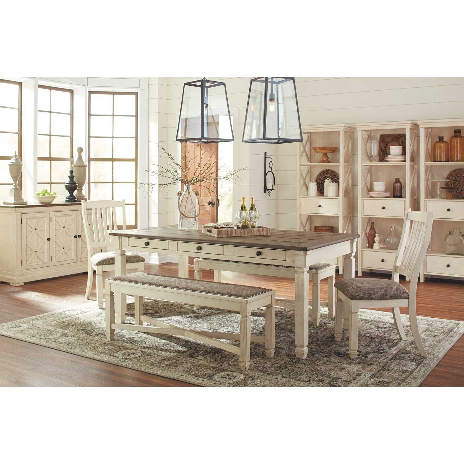 Bolanburg Rectangular Dining Table D647 25 | Ashley Furniture | Afw With 2017 Market 7 Piece Dining Sets With Host And Side Chairs (View 14 of 20)