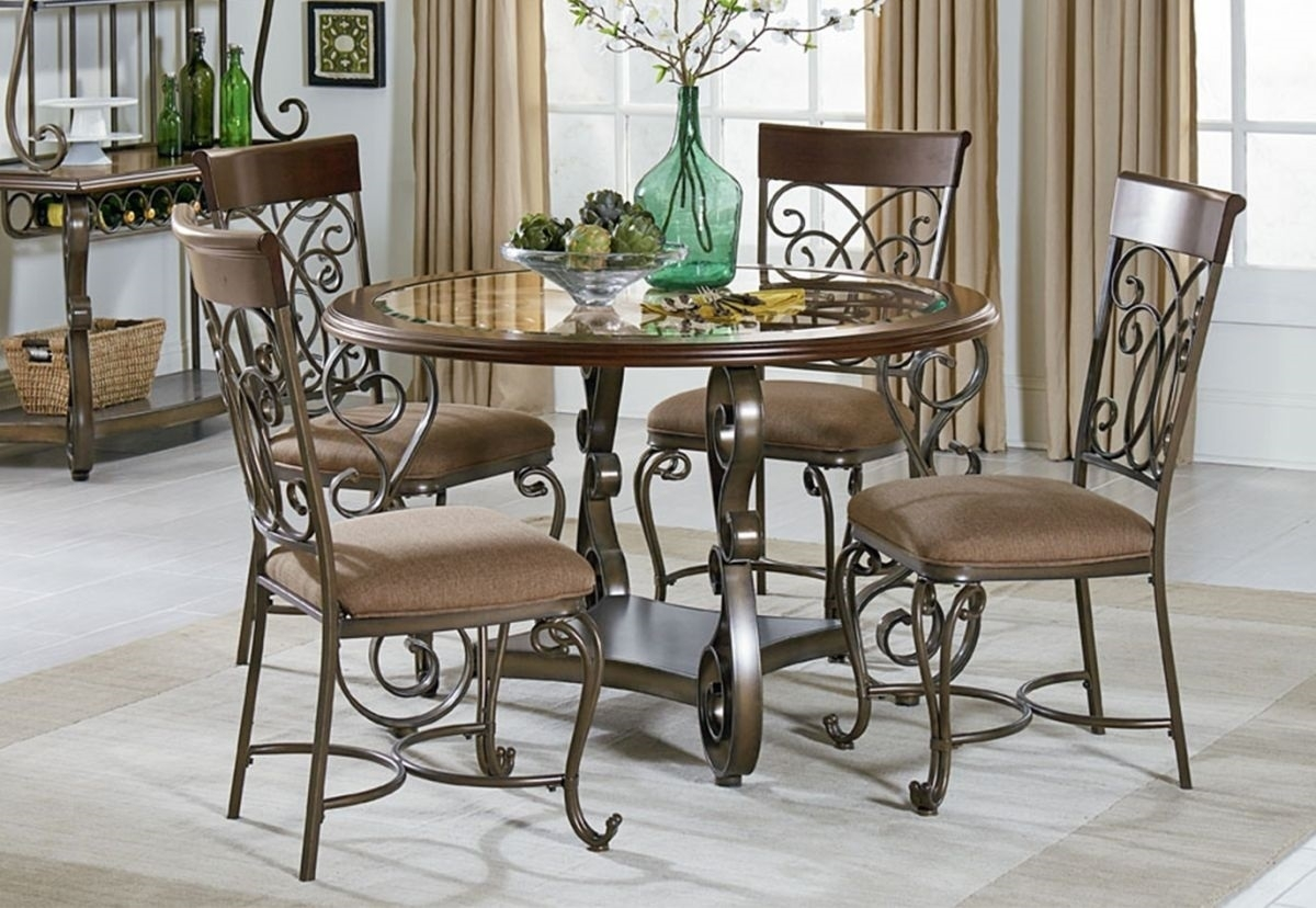 Bombay 5 Pc Dining Room | Badcock & More For 2018 Valencia 5 Piece Round Dining Sets With Uph Seat Side Chairs (Image 7 of 20)