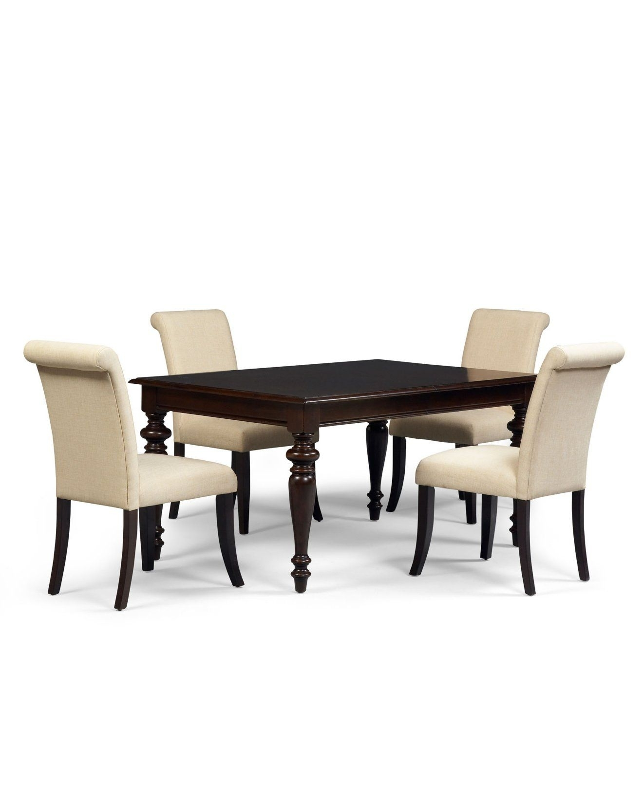 Bradford 5 Piece Dining Room Furniture Set With Upholstered Chairs Inside Most Up To Date Bradford Dining Tables (View 17 of 20)