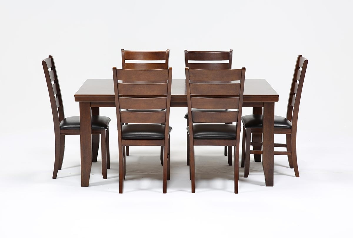 Bradford 7 Piece Dining Set W/bardstown Side Chairs | Living Spaces For Current Kirsten 6 Piece Dining Sets (Image 8 of 20)