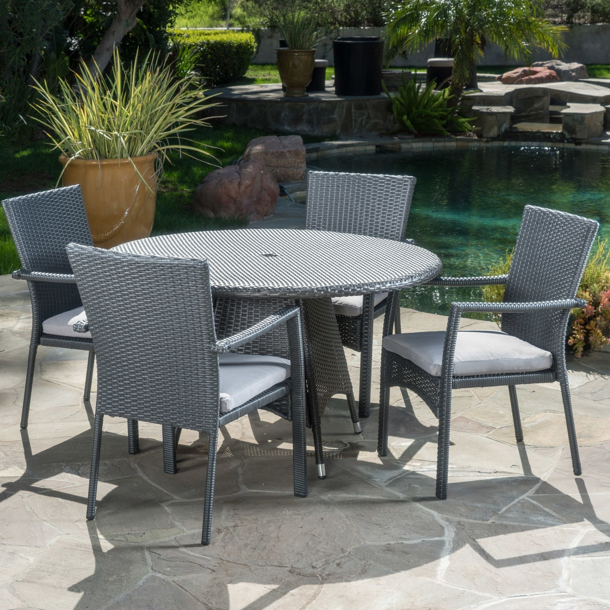 Brandon 5 Piece Dining Set With Cushion | Products | Pinterest With Current Cora 5 Piece Dining Sets (Image 11 of 20)