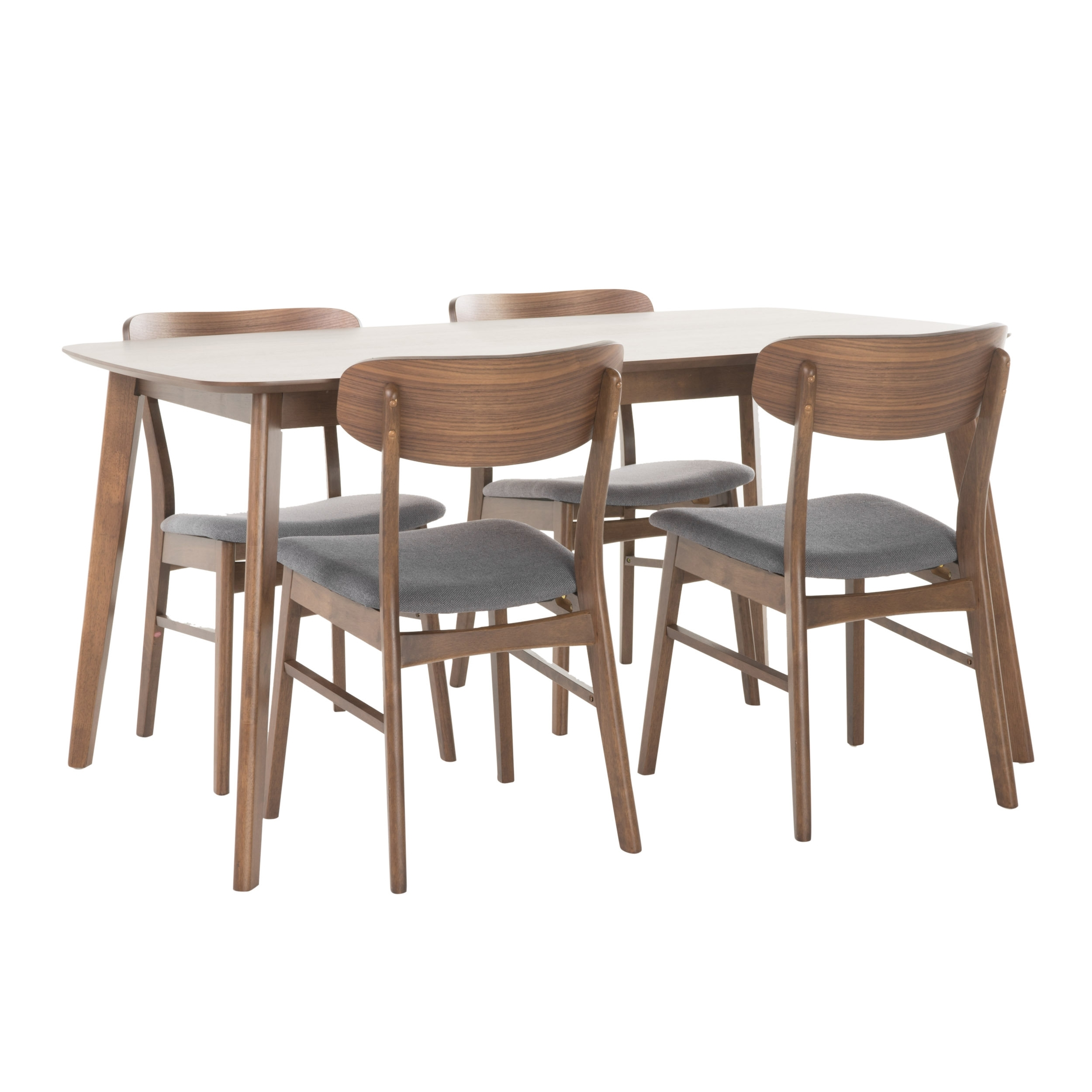 Brayden Studio Feldman 5 Piece Dining Set & Reviews | Wayfair Intended For Newest Chandler 7 Piece Extension Dining Sets With Wood Side Chairs (Image 3 of 20)