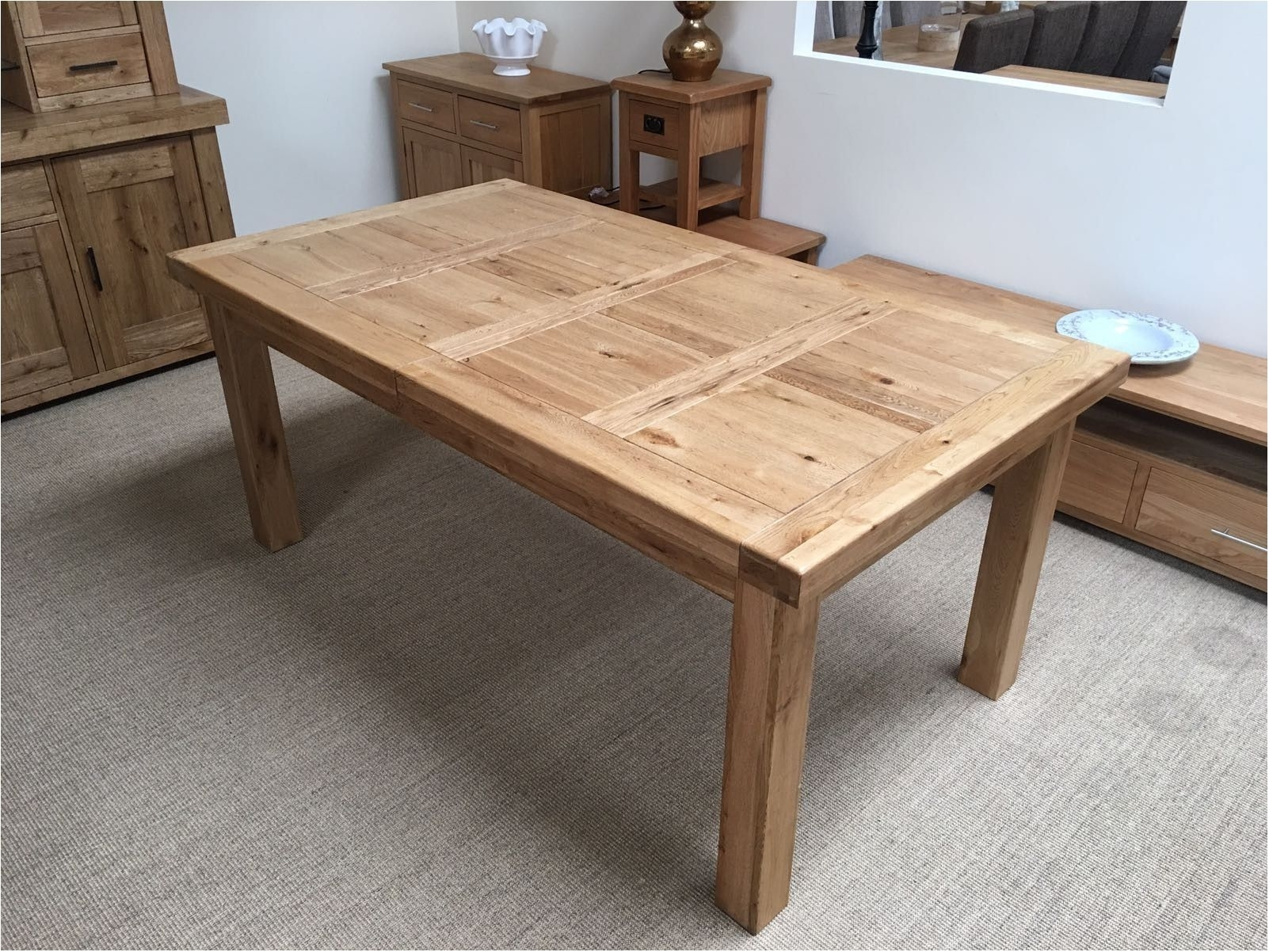 Brilliant Oxford Solid Oak Extending Dining Table Oak Furniture Intended For Most Current Chandler Extension Dining Tables (Photo 8 of 20)