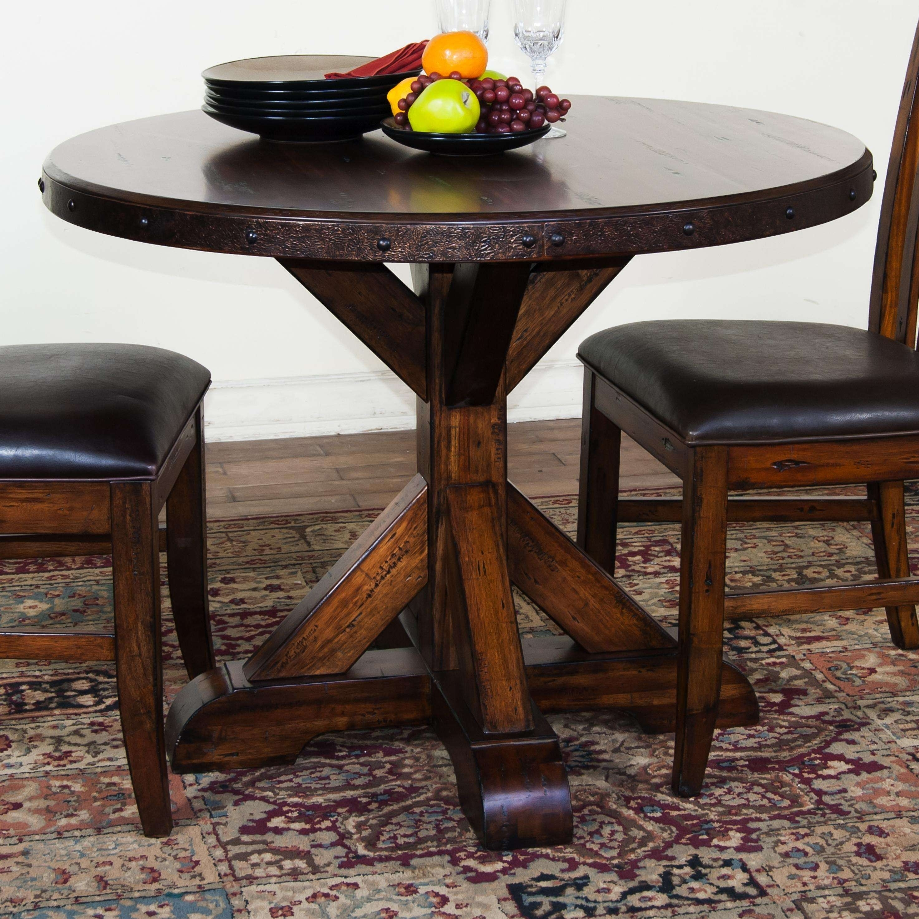Bristol Dining Table Lovely Dining Tables Black Brown Rustic Round Intended For Most Current Magnolia Home Breakfast Round Black Dining Tables (Image 6 of 20)