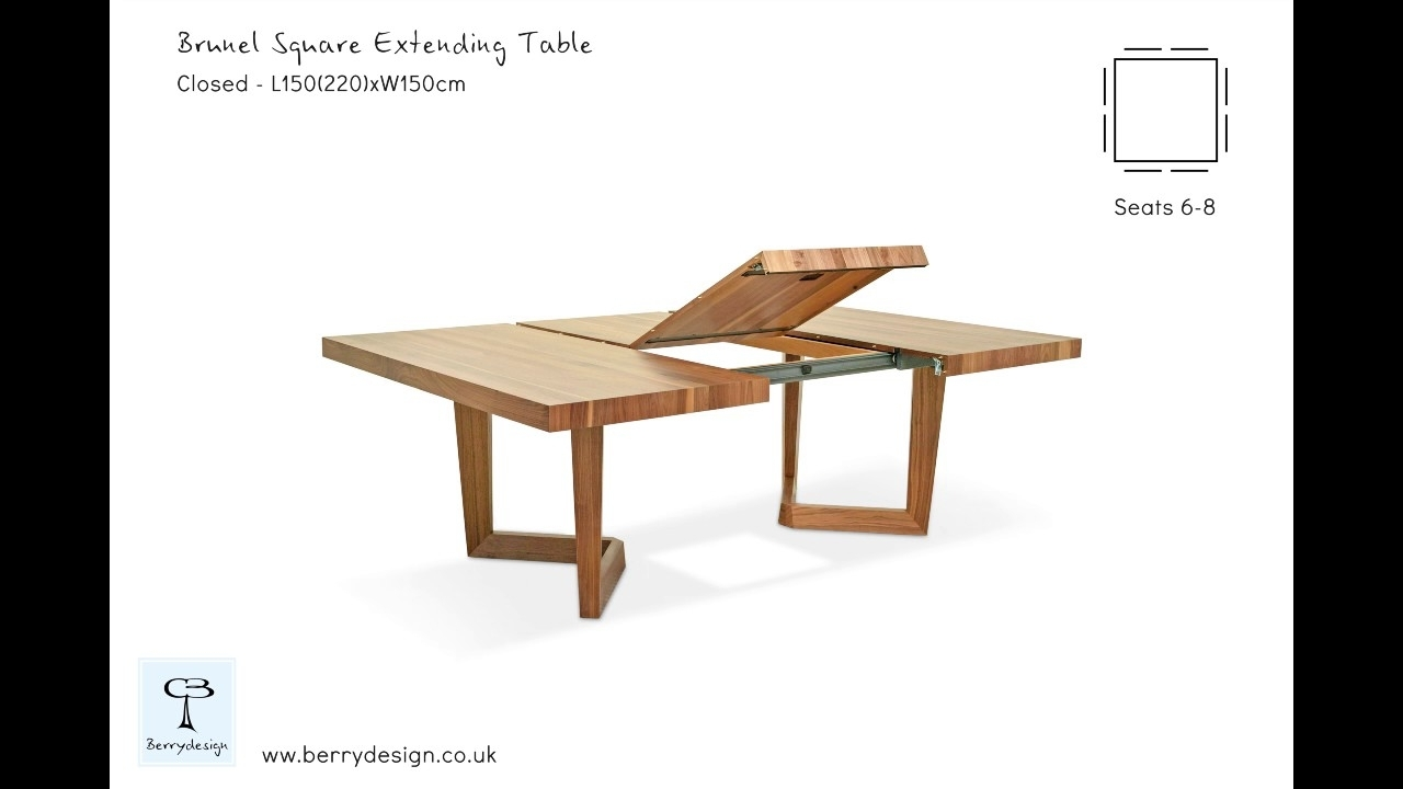 Brunel Square Extending Dining Table – Youtube Within Recent Craftsman Rectangle Extension Dining Tables (Image 5 of 20)