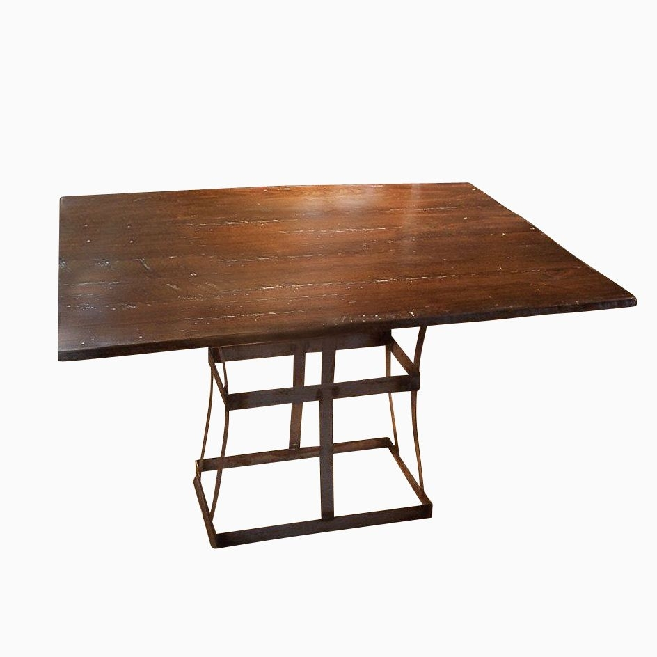 Buy A Handmade Reclaimed Wood Dining Table With Contemporary Metal Pertaining To Best And Newest Iron And Wood Dining Tables (View 7 of 20)