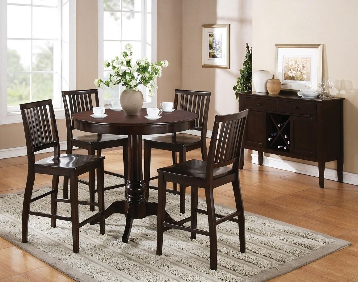 Buy Candice Round Pedestal Bar Table Setsteve Silver From Www In Most Popular Candice Ii Round Dining Tables (Image 3 of 20)