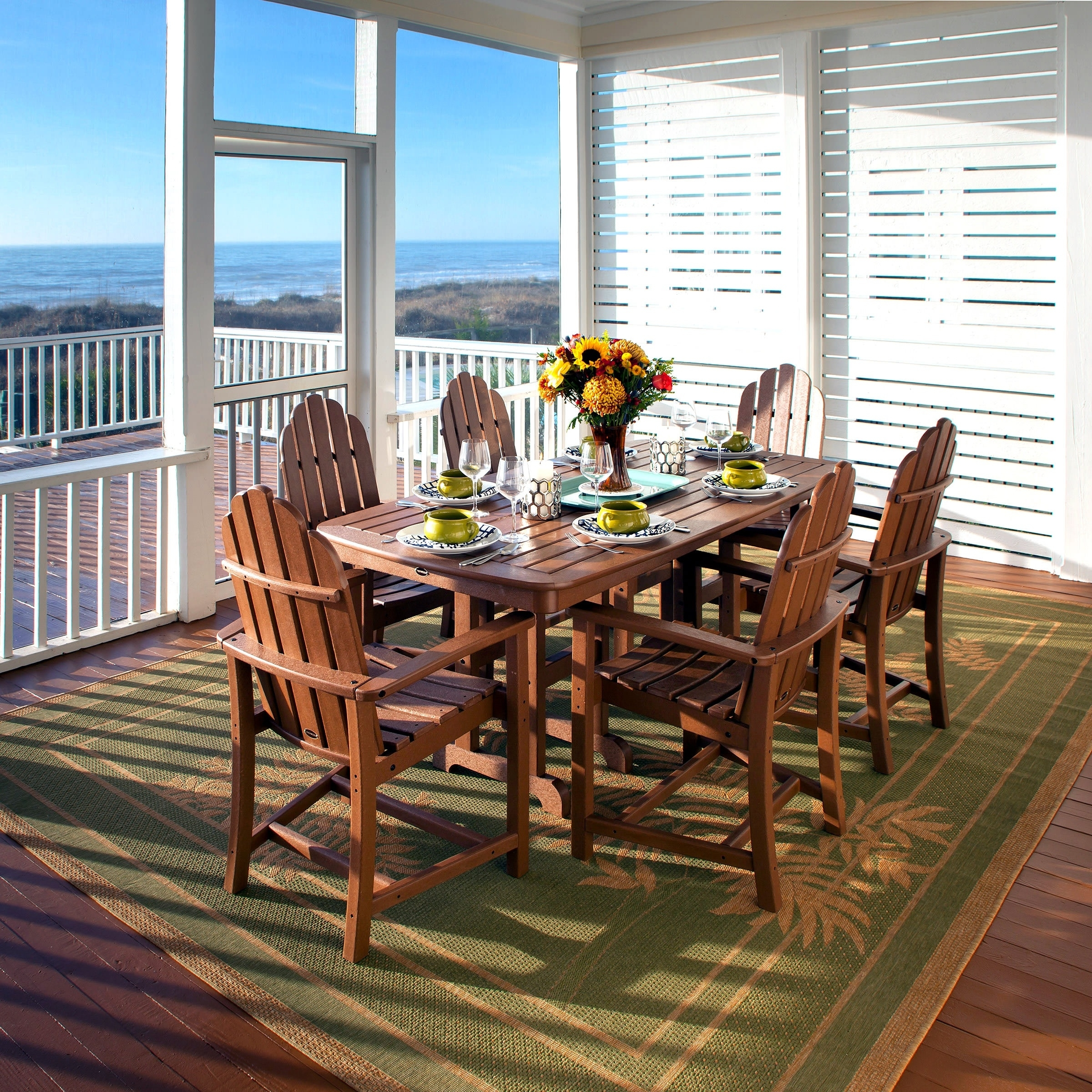Buy Polywood® – Poly Lumber Dining Sets Furniture : Premium Poly Patios With Recent Market 7 Piece Dining Sets With Side Chairs (View 20 of 20)