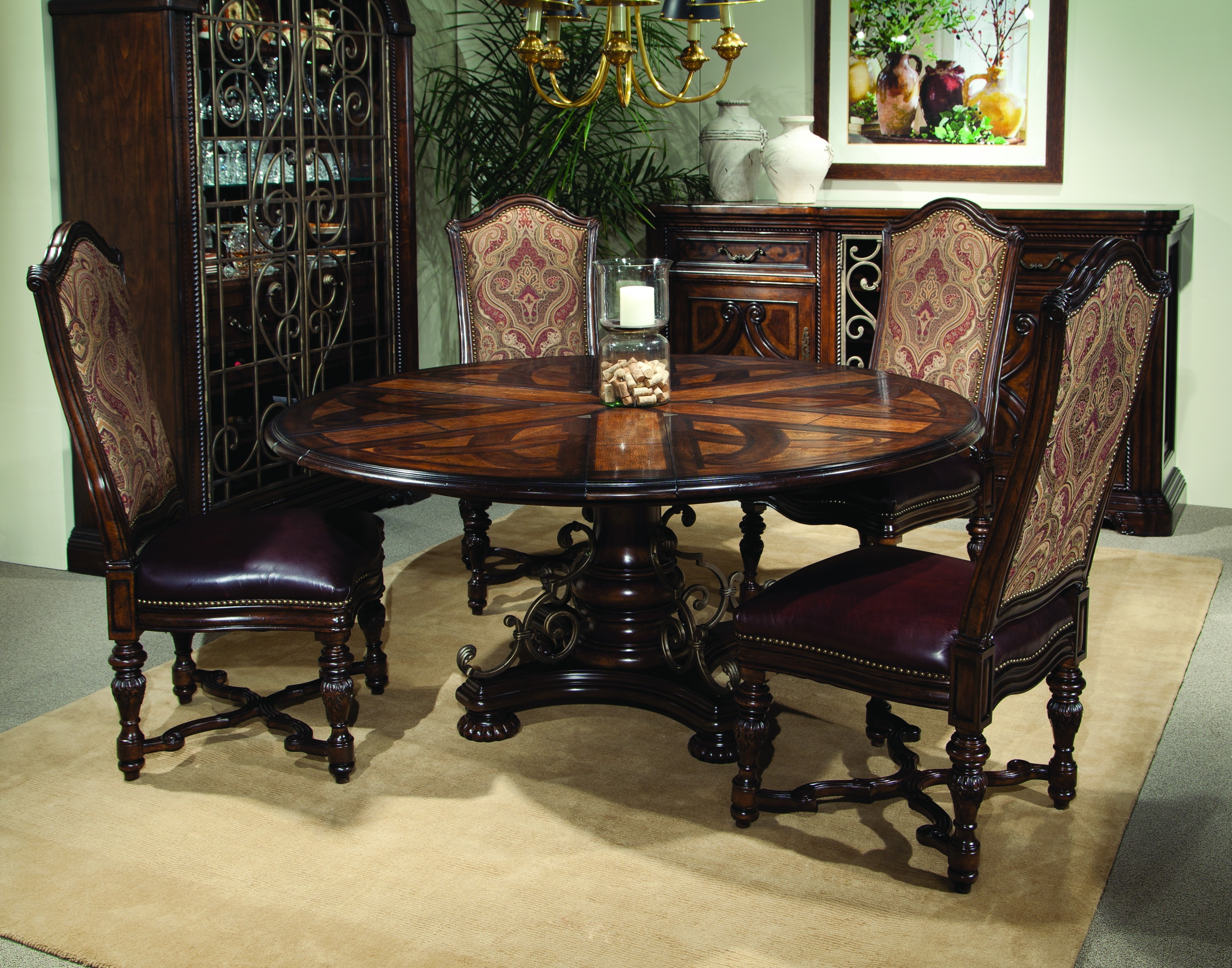 Buy Valencia – Round Dining Table With Six Leavesart From Www For Most Up To Date Valencia 60 Inch Round Dining Tables (Image 4 of 20)