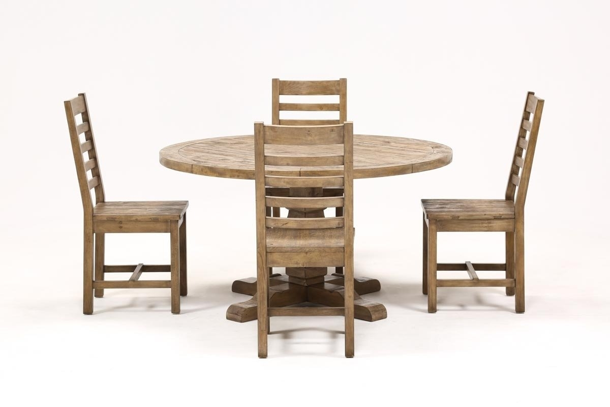 Caden 5 Piece Round Dining Set | Living Spaces Pertaining To Most Up To Date Caden 5 Piece Round Dining Sets (Photo 1 of 20)