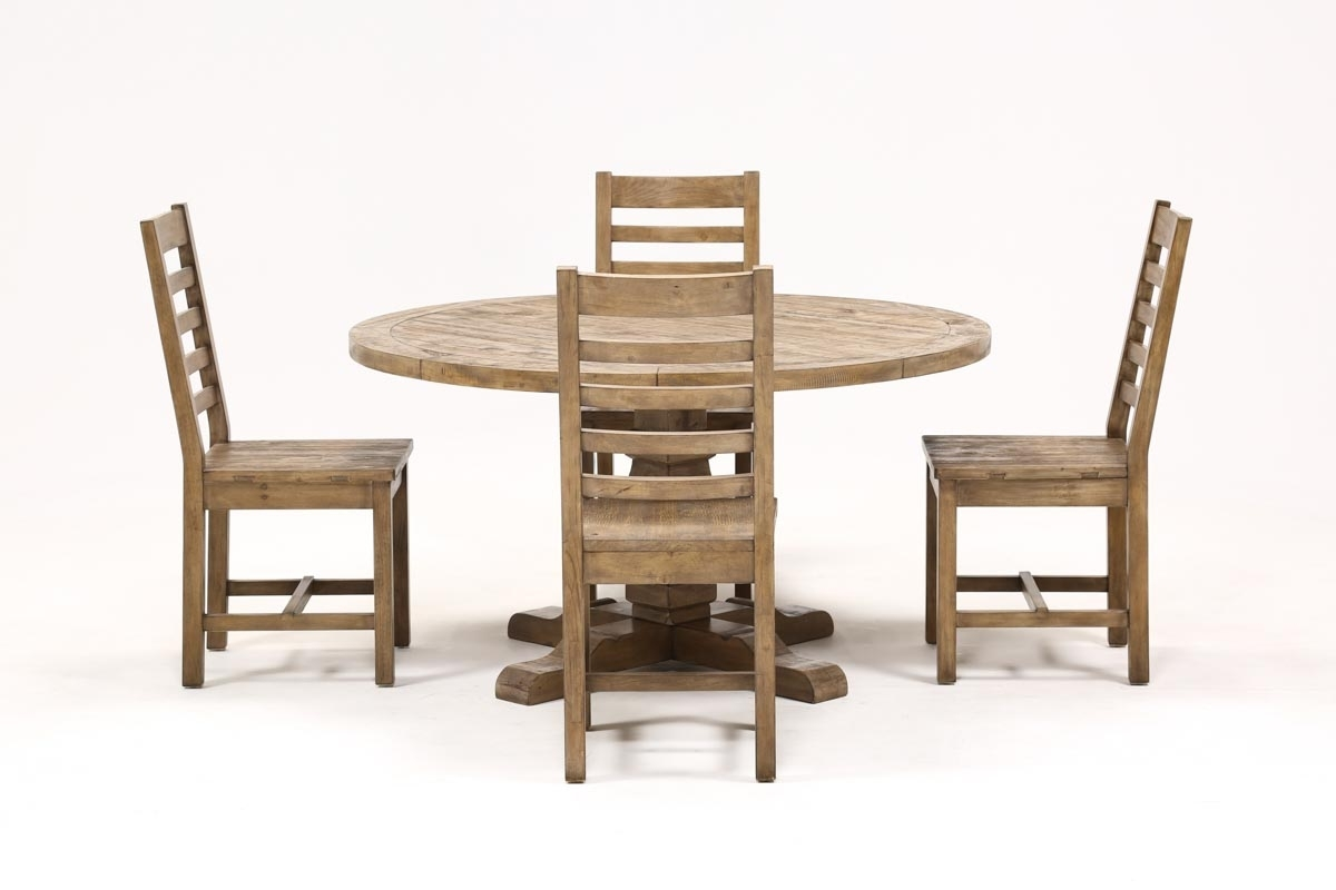 Caden 5 Piece Round Dining Set | Living Spaces With Regard To Most Current Caden Round Dining Tables (Image 3 of 20)
