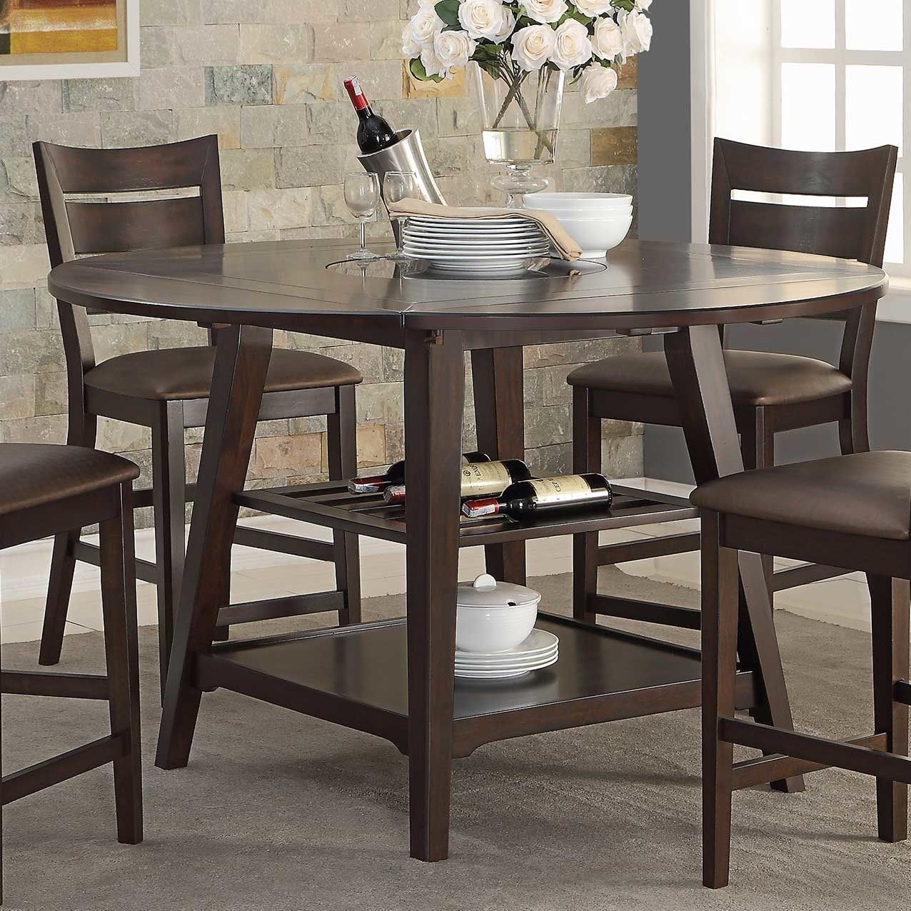 "Caden 60"" Round Extendable Dining Table 