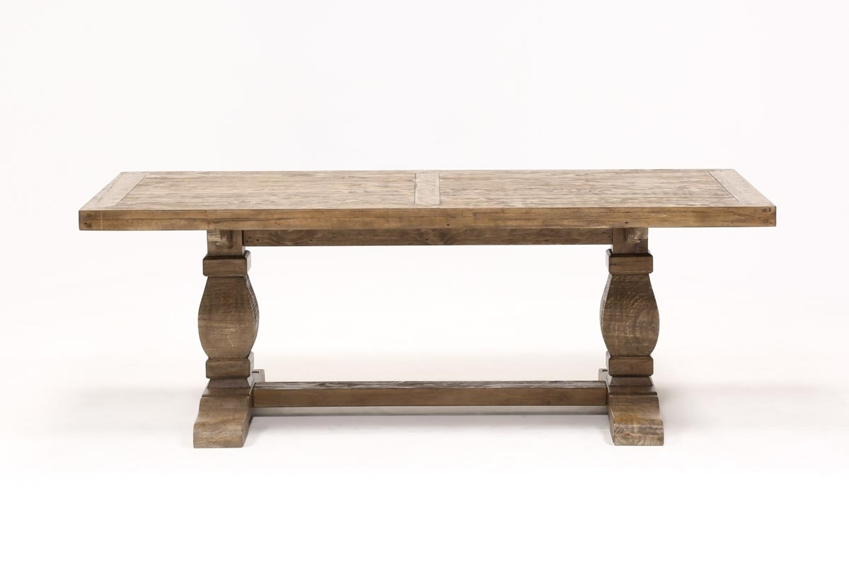 Caden Rectangle Dining Table | Living Spaces With Regard To 2018 Natural Wood & Recycled Elm 87 Inch Dining Tables (Image 3 of 20)