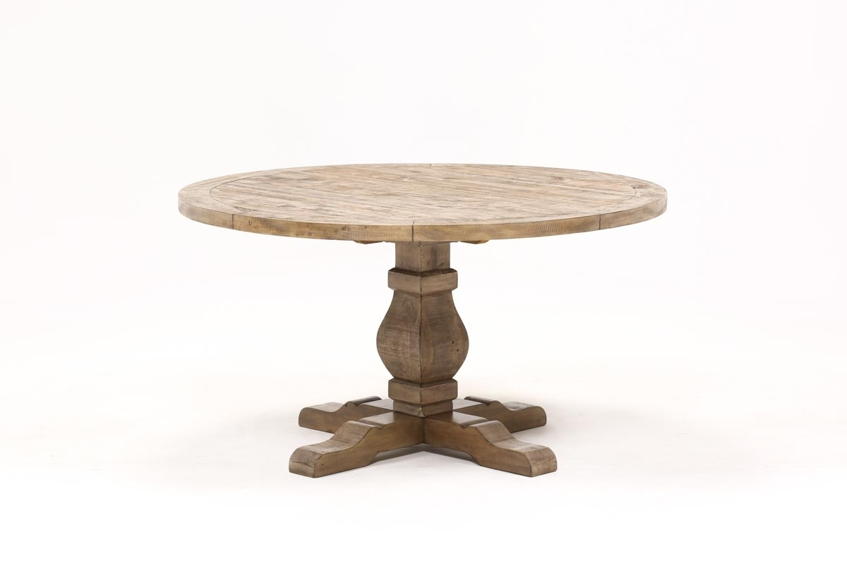 Caden Round Dining Table | Living Spaces With Newest Caden Rectangle Dining Tables (Image 9 of 20)