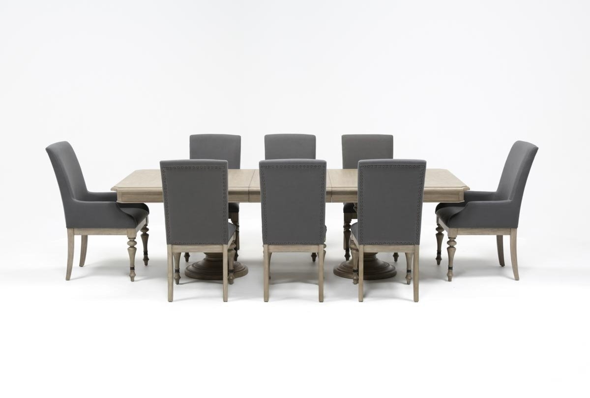 Caira 9 Piece Extension Dining Set | Living Spaces Throughout Newest Amos 7 Piece Extension Dining Sets (View 10 of 20)