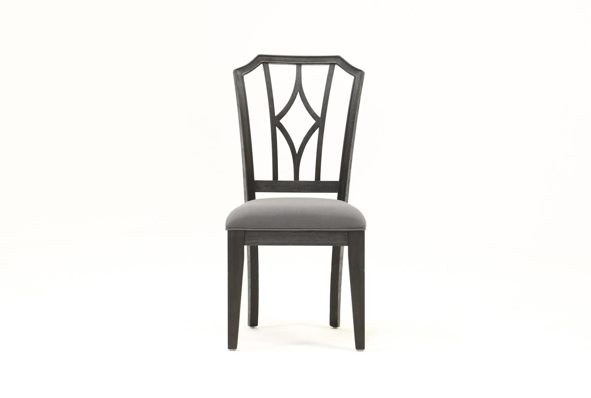 Caira Black Upholstered Diamond Back Side Chair | Living Spaces Intended For Latest Caira Black 5 Piece Round Dining Sets With Diamond Back Side Chairs (Image 6 of 20)