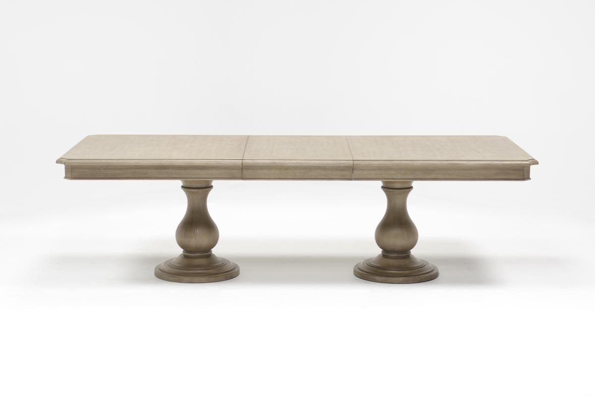 Caira Extension Pedestal Dining Table | Living Spaces With Newest Caira Extension Pedestal Dining Tables (Photo 1 of 20)