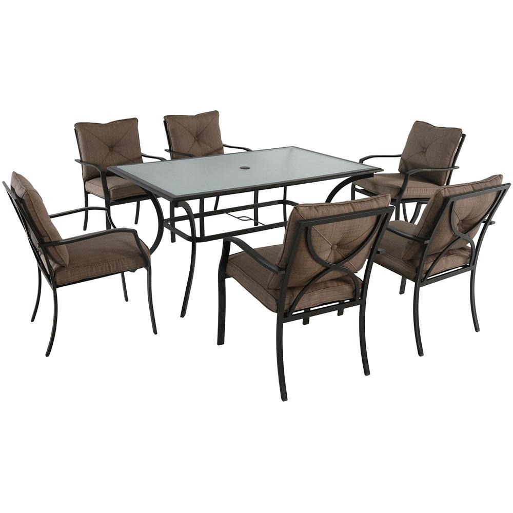 Cambridge Crawford 7 Piece Steel Outdoor Dining Set With Copper Intended For Best And Newest Crawford 7 Piece Rectangle Dining Sets (Photo 3 of 20)