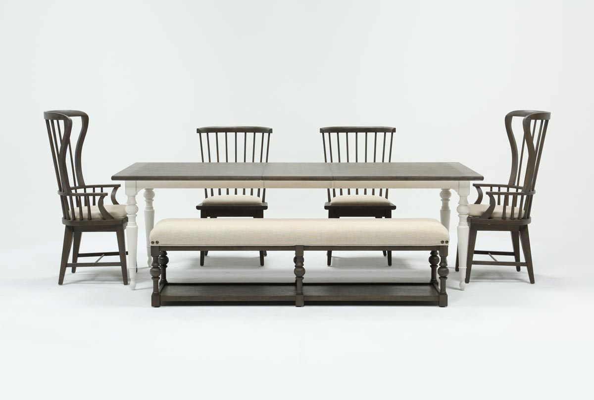 Candice Ii 6 Piece Extension Rectangle Dining Set | Living Spaces For Recent Candice Ii Extension Rectangle Dining Tables (Photo 2 of 20)