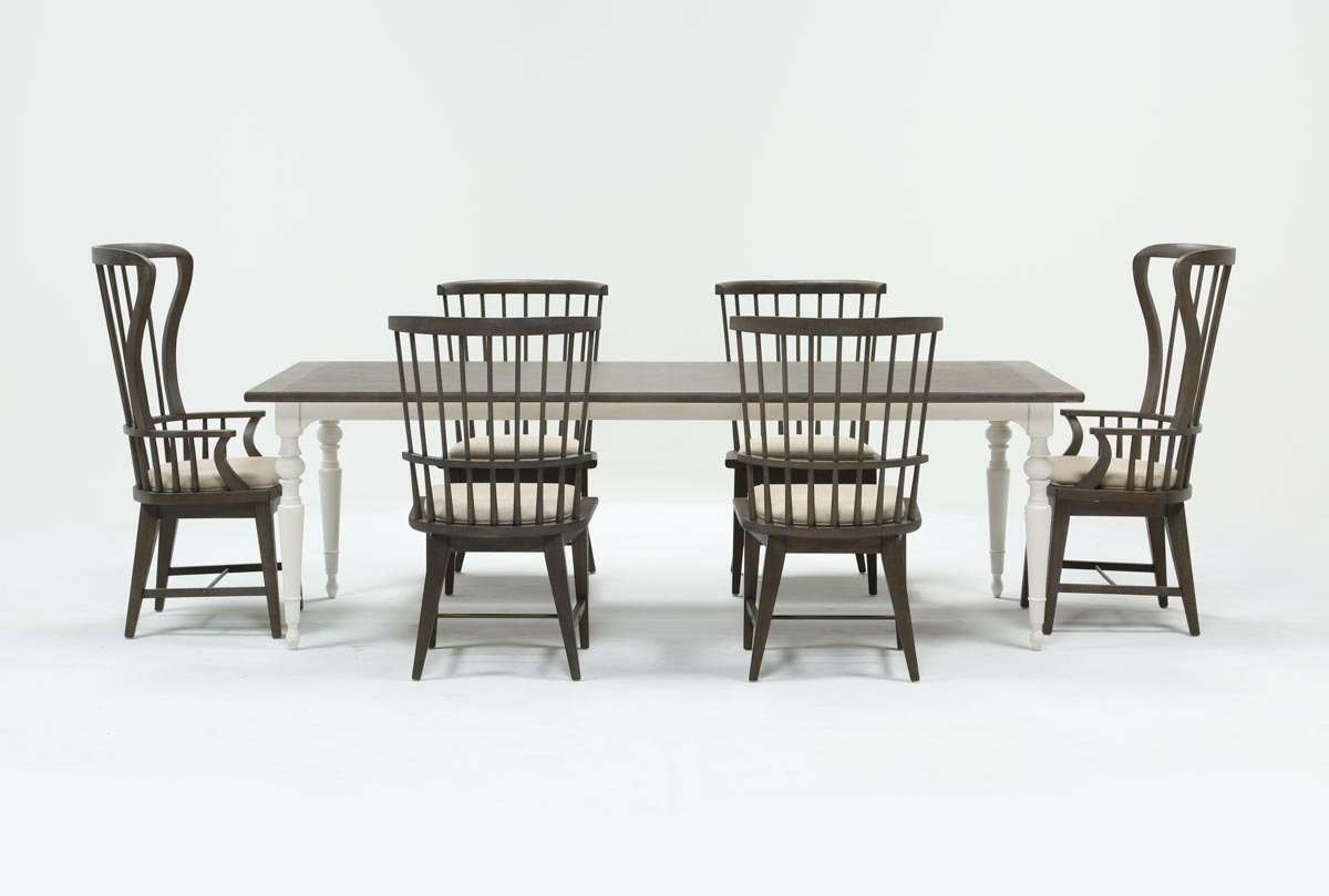 Candice Ii 7 Piece Extension Rectangle Dining Set | Living Spaces For 2018 Candice Ii 7 Piece Extension Rectangle Dining Sets (Photo 1 of 20)