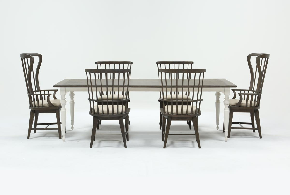 Candice Ii 7 Piece Extension Rectangle Dining Set | Living Spaces Throughout Current Candice Ii Extension Rectangle Dining Tables (Photo 1 of 20)