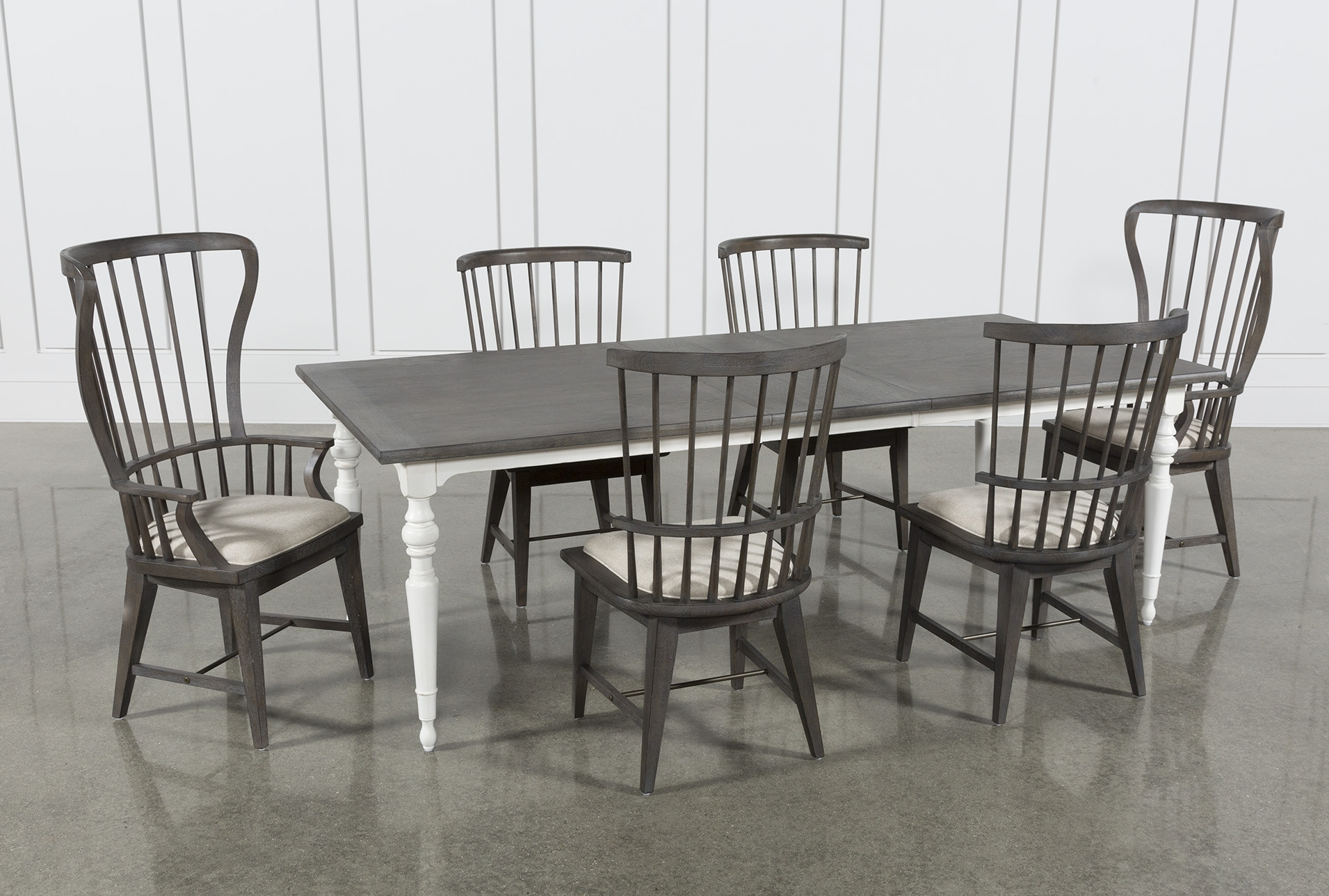 Candice Ii 7 Piece Extension Rectangle Dining Set | Products For Most Current Candice Ii 7 Piece Extension Rectangular Dining Sets With Slat Back Side Chairs (View 2 of 20)