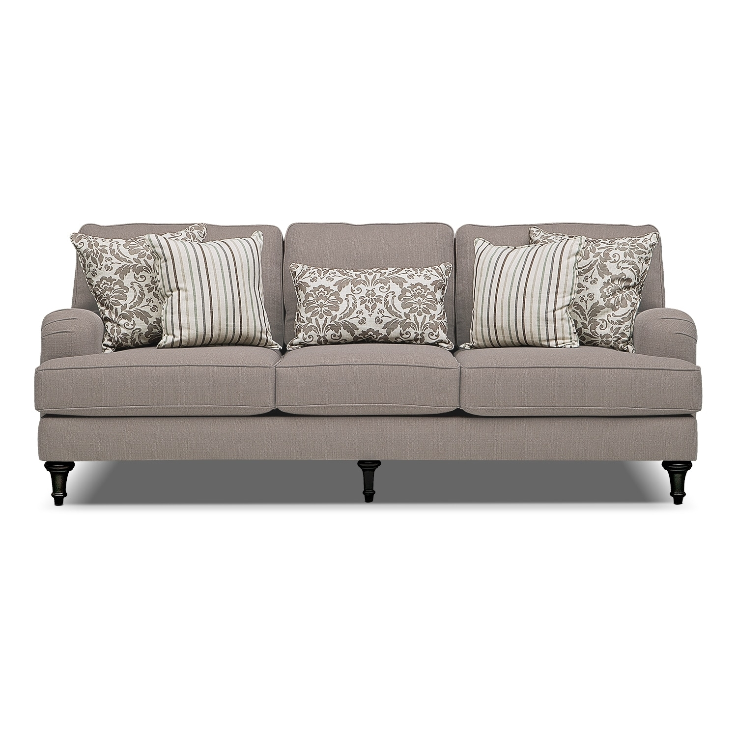 Candice Sofa – Gray | Value City Furniture And Mattresses Regarding Best And Newest Candice Ii Round Dining Tables (Photo 20 of 20)