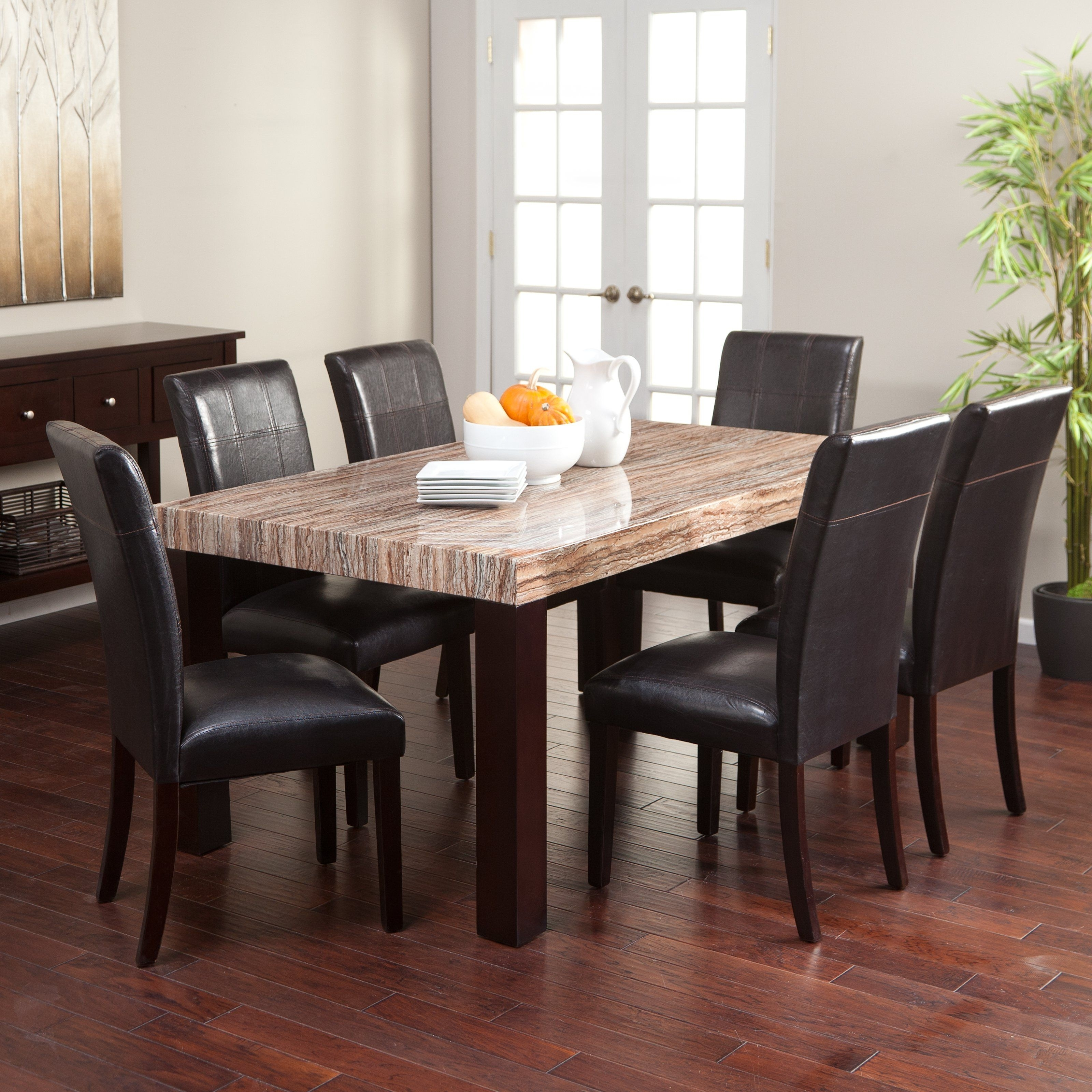 Carmine 7 Piece Dining Table Set – With Its Creamy Caramel Colored In Recent Palazzo 6 Piece Rectangle Dining Sets With Joss Side Chairs (Image 3 of 20)
