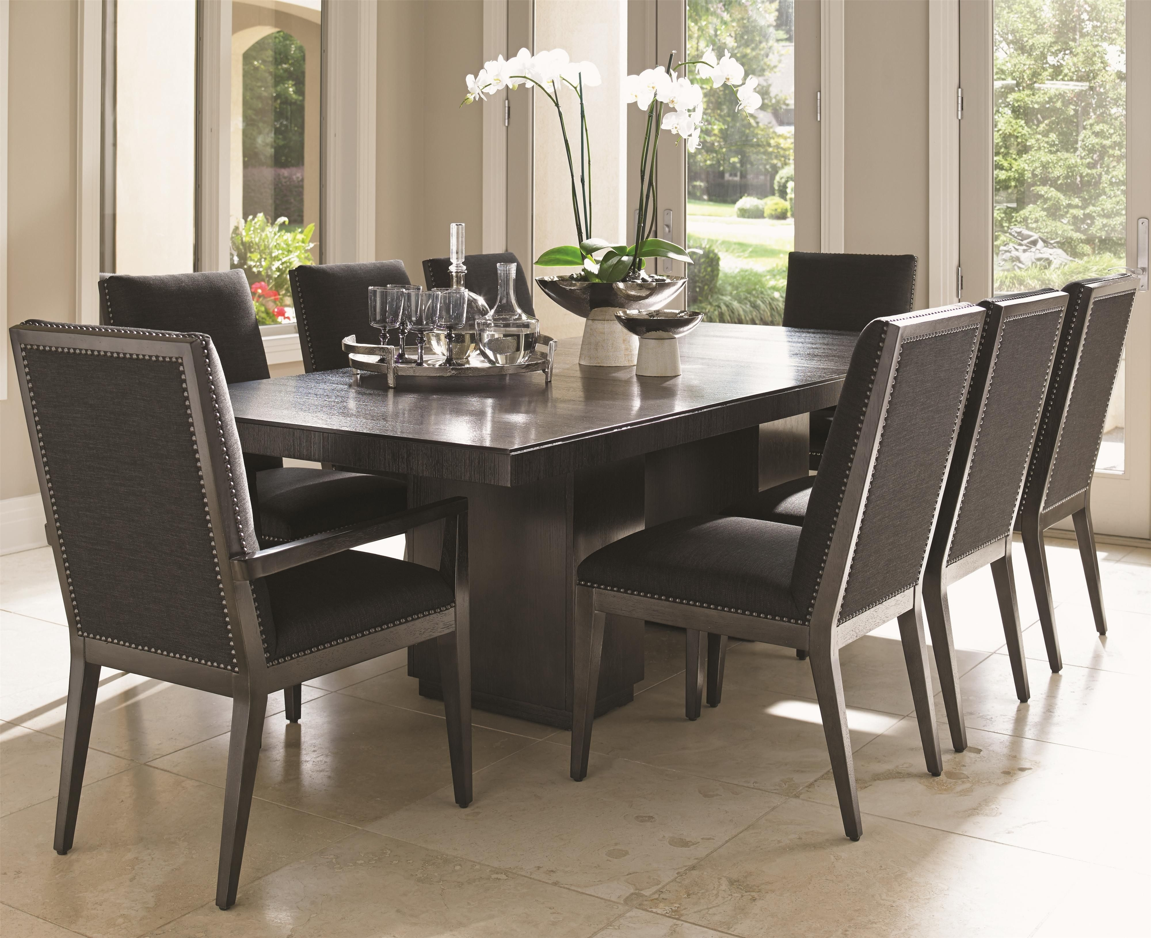 Carrera Modena Nine Piece Dining Set With Quickship Chairs In Gray Inside Recent Chapleau Ii 9 Piece Extension Dining Table Sets (Image 3 of 20)