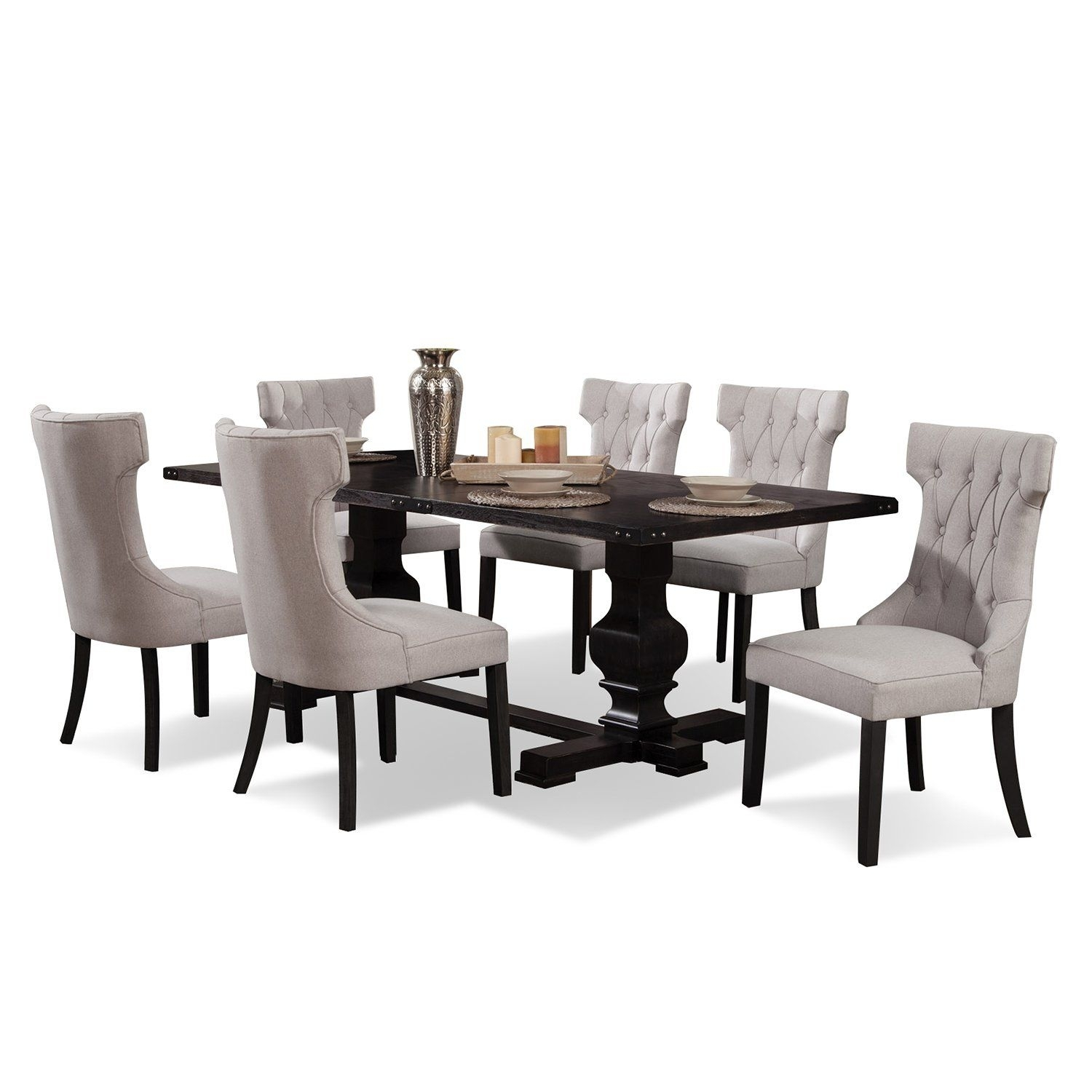 Caswell Dining Table In 2018 | Products | Pinterest | Dining, Dining Regarding Newest Walden 7 Piece Extension Dining Sets (Image 2 of 20)