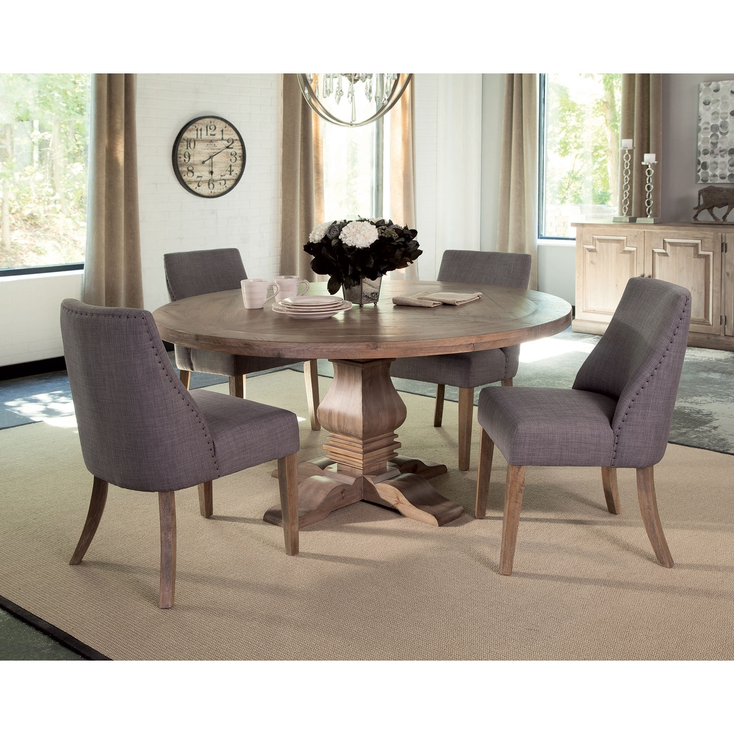 Catchy Circle Kitchen Table In Donny Osmond Home Florence Pine Round With 2018 Macie Round Dining Tables (Image 4 of 20)