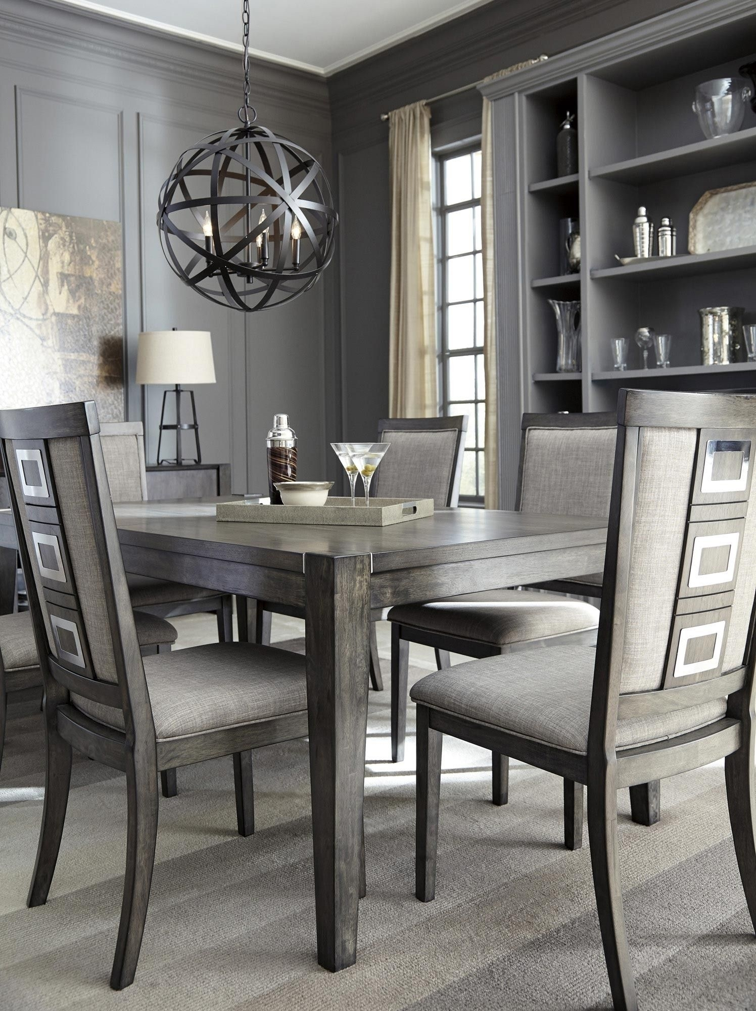 Chadoni Rectangular Dining Room Extension Table In Gray | Ashley For Most Current Candice Ii 7 Piece Extension Rectangle Dining Sets (View 16 of 20)