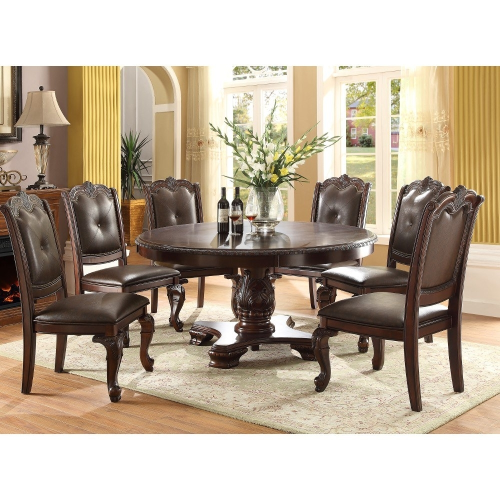 Chair Round Table Set | Modern Small Square Glass Dining Table And 4 Inside Current Caira Black 5 Piece Round Dining Sets With Diamond Back Side Chairs (Image 8 of 20)