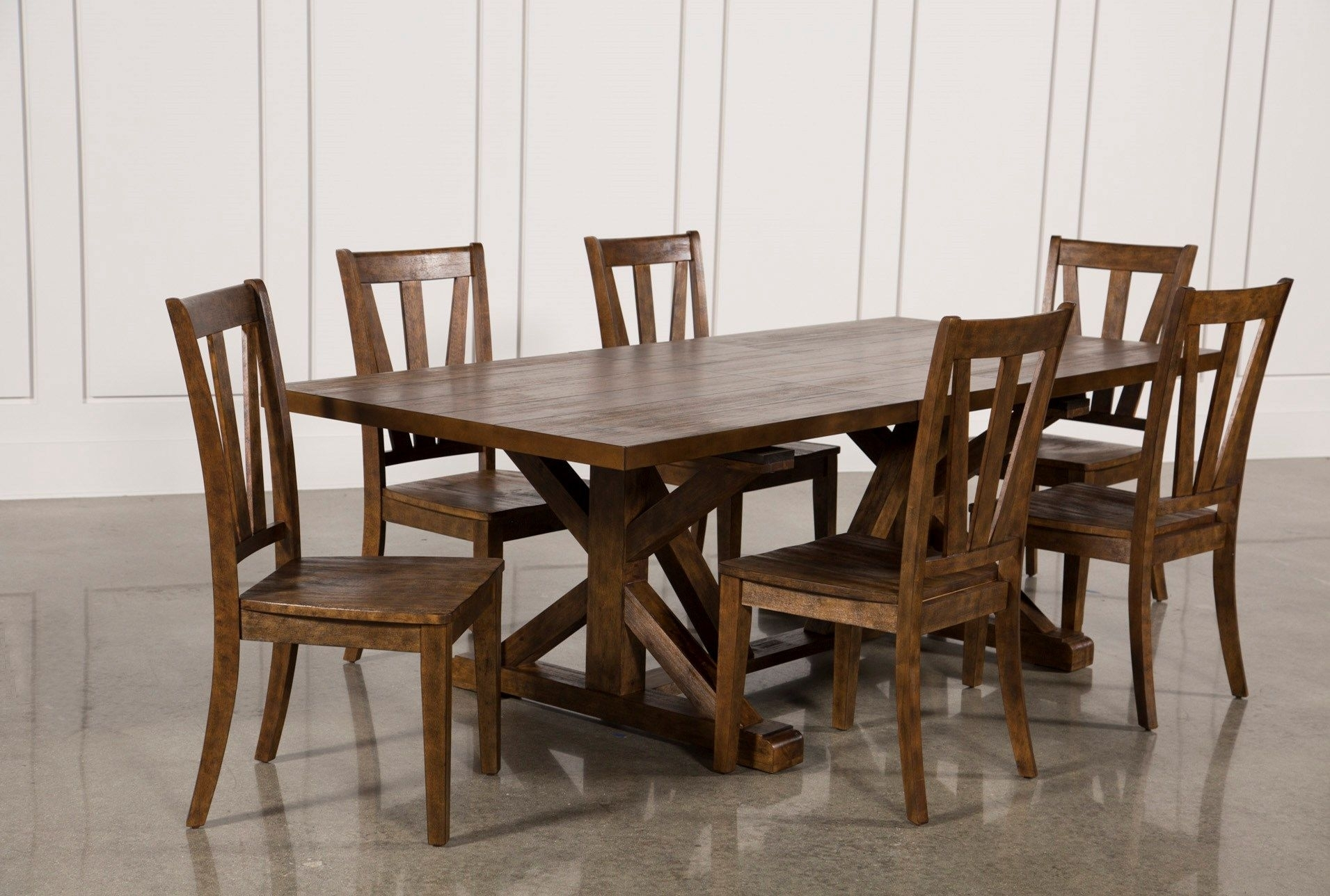 Chandler 7 Piece Extension Dining Set W/wood Side Chairs | Home Inside Most Recently Released Chandler 7 Piece Extension Dining Sets With Wood Side Chairs (Photo 4 of 20)