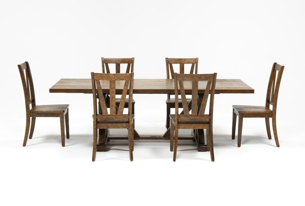 Featured Image of Chandler 7 Piece Extension Dining Sets With Wood Side Chairs